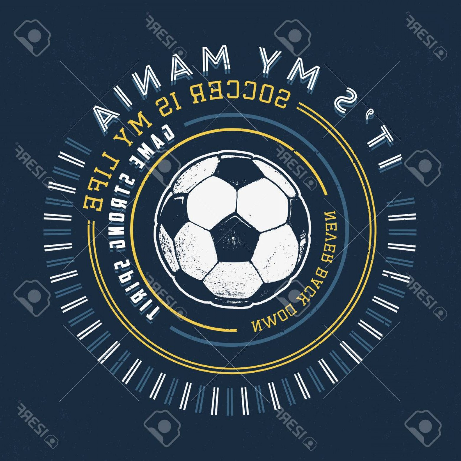 Gru Vector Logos: Photostock Vector Soccer Mania Handmade Football Ball Design Fashion Apparel Texture Print T Shirt Graphic Vintage Gru