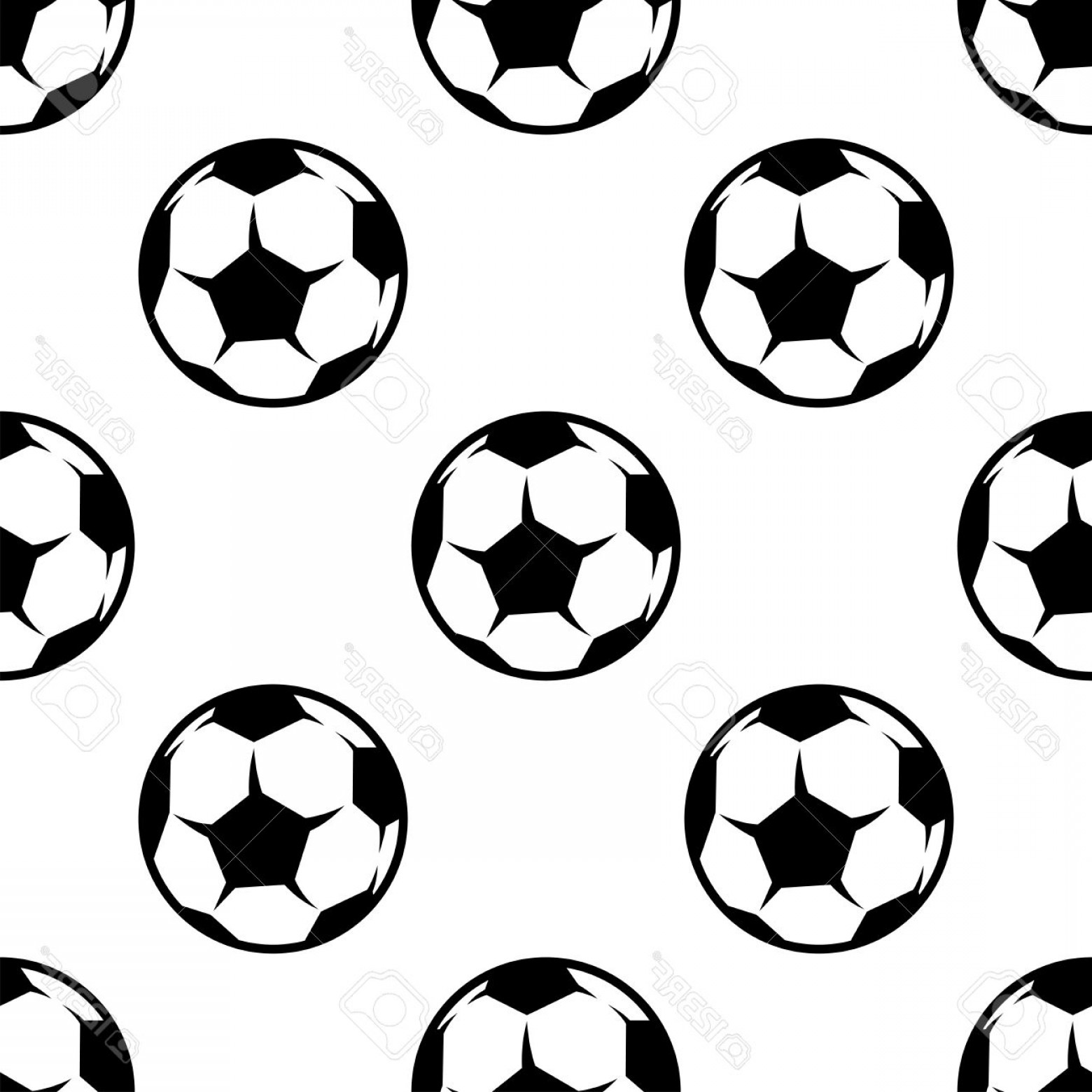 Football Vector Wallpaper: Photostock Vector Soccer Or Football Seamless Pattern With Sports Balls For Background Wallpaper Or Textile Design