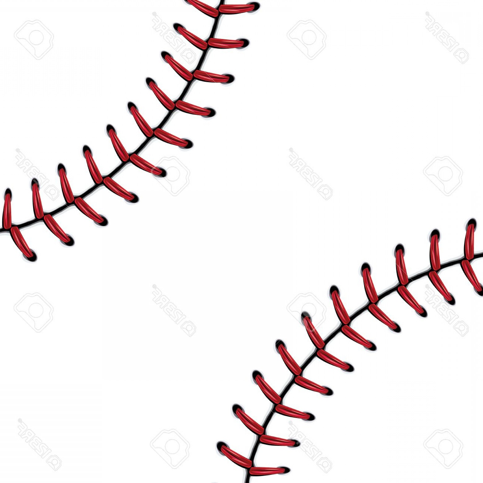 Laces Basball Vector: Photostock Vector Softball Baseball Red Lace Over White Background