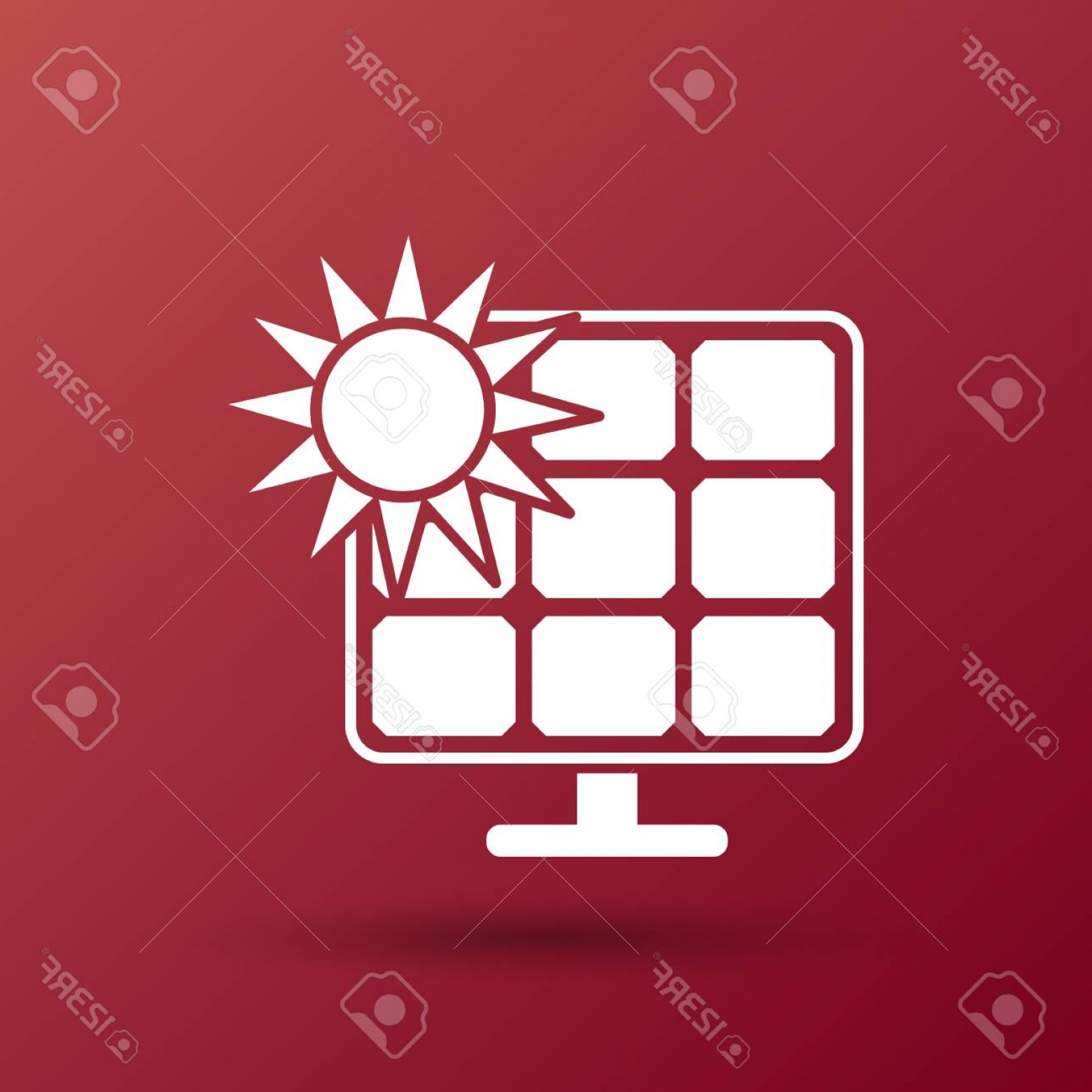 Christian Vector Sun: Photostock Vector Solar Energy Panel Icon Vector Sun Power