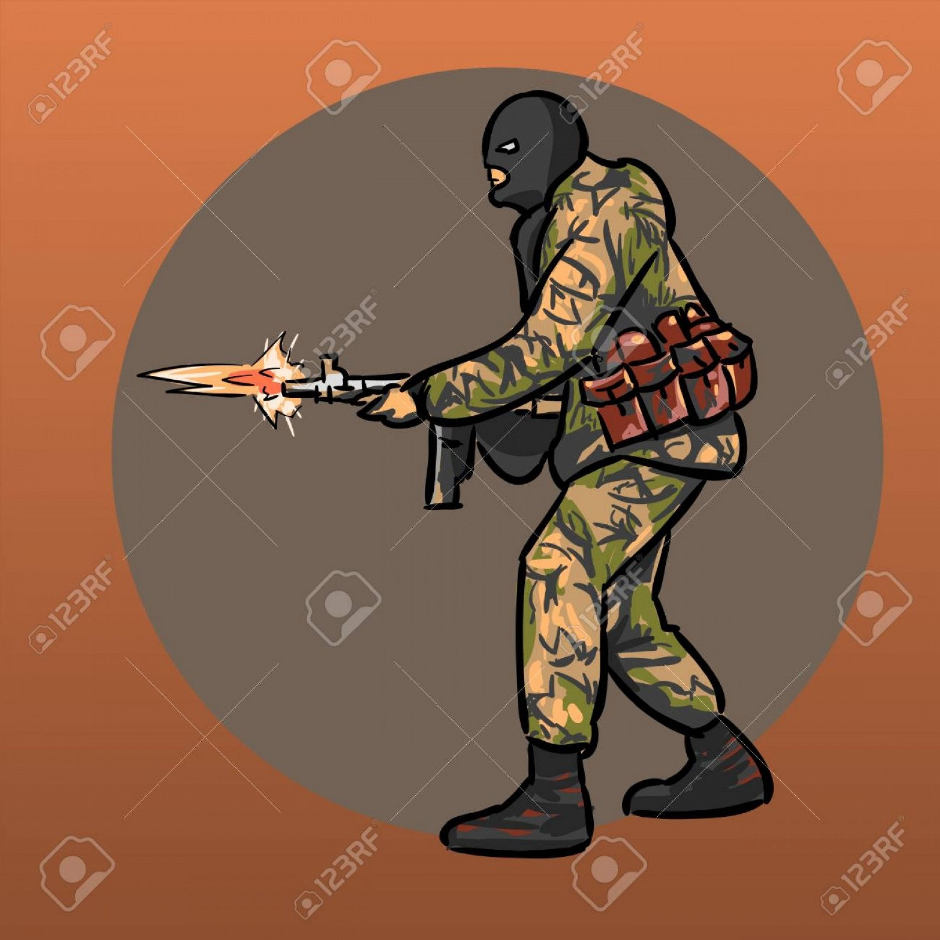 Us Special Forces Vector Files: Photostock Vector Soldier With Gun Warrior Special Forces