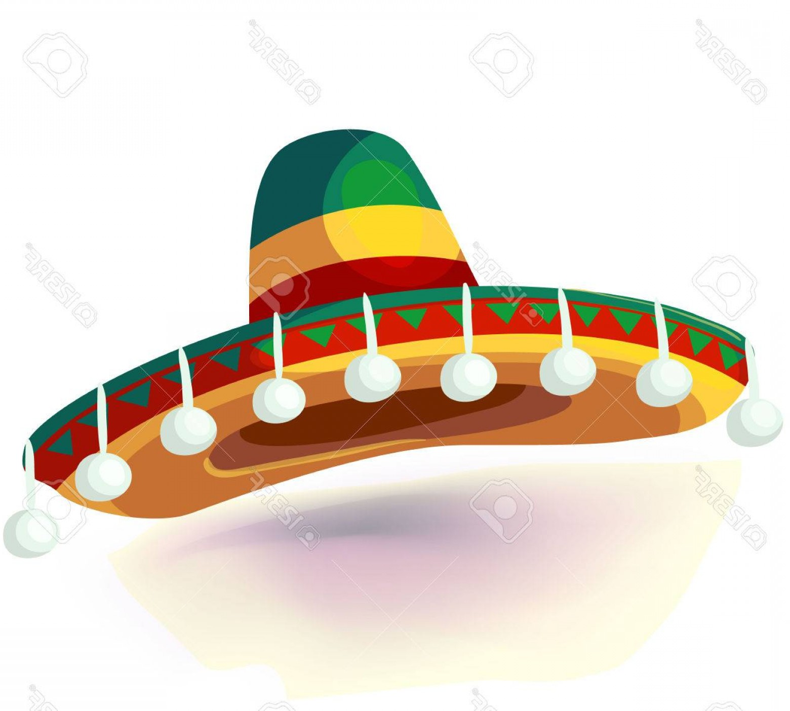 Sombrero Hat Vector: Photostock Vector Sombrero Hat Vector Illustration Mexican Hat On White Background Masquerade Or Carnival Costume Head