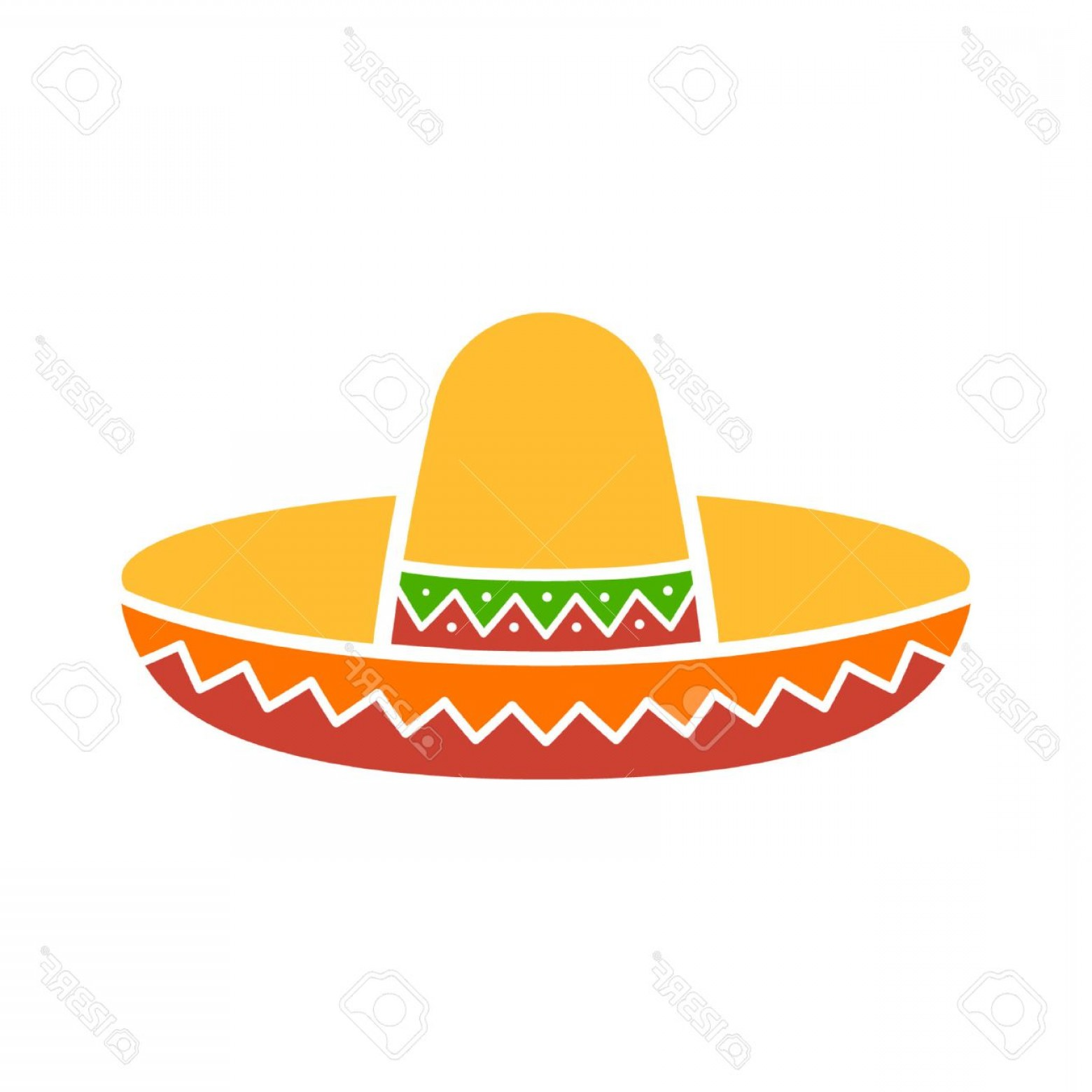 Sombrero Hat Vector: Photostock Vector Sombrero Mexican Hat Colorful Flat Icon For Apps And Websites