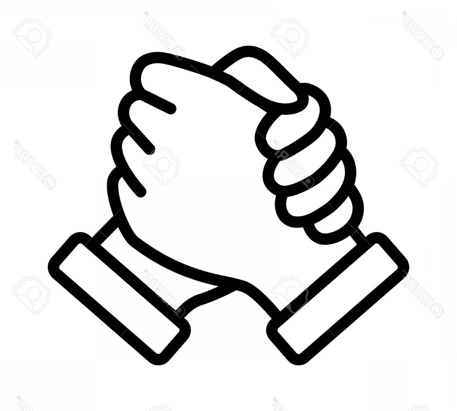 Handshake Clip Art Vector: Photostock Vector Soul Brother Handshake Thumb Clasp Handshake Or Homie Handshake Line Art Vector Icon For Apps And We