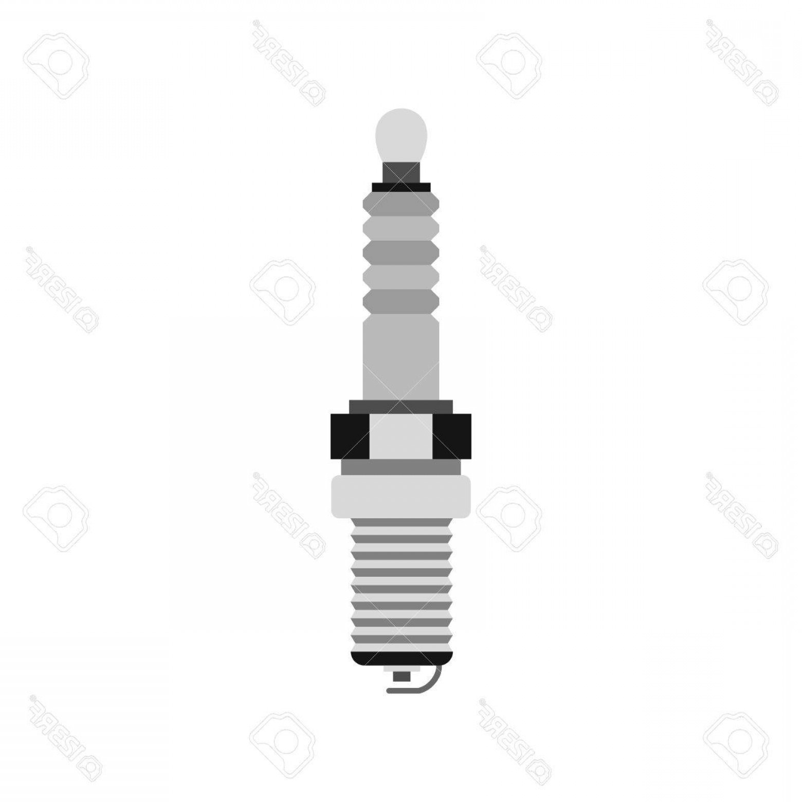 Spark Plug Vector: Photostock Vector Spark Plug Icon In Flat Style Isolated On White Background Mechanism Symbol Vector Illustration