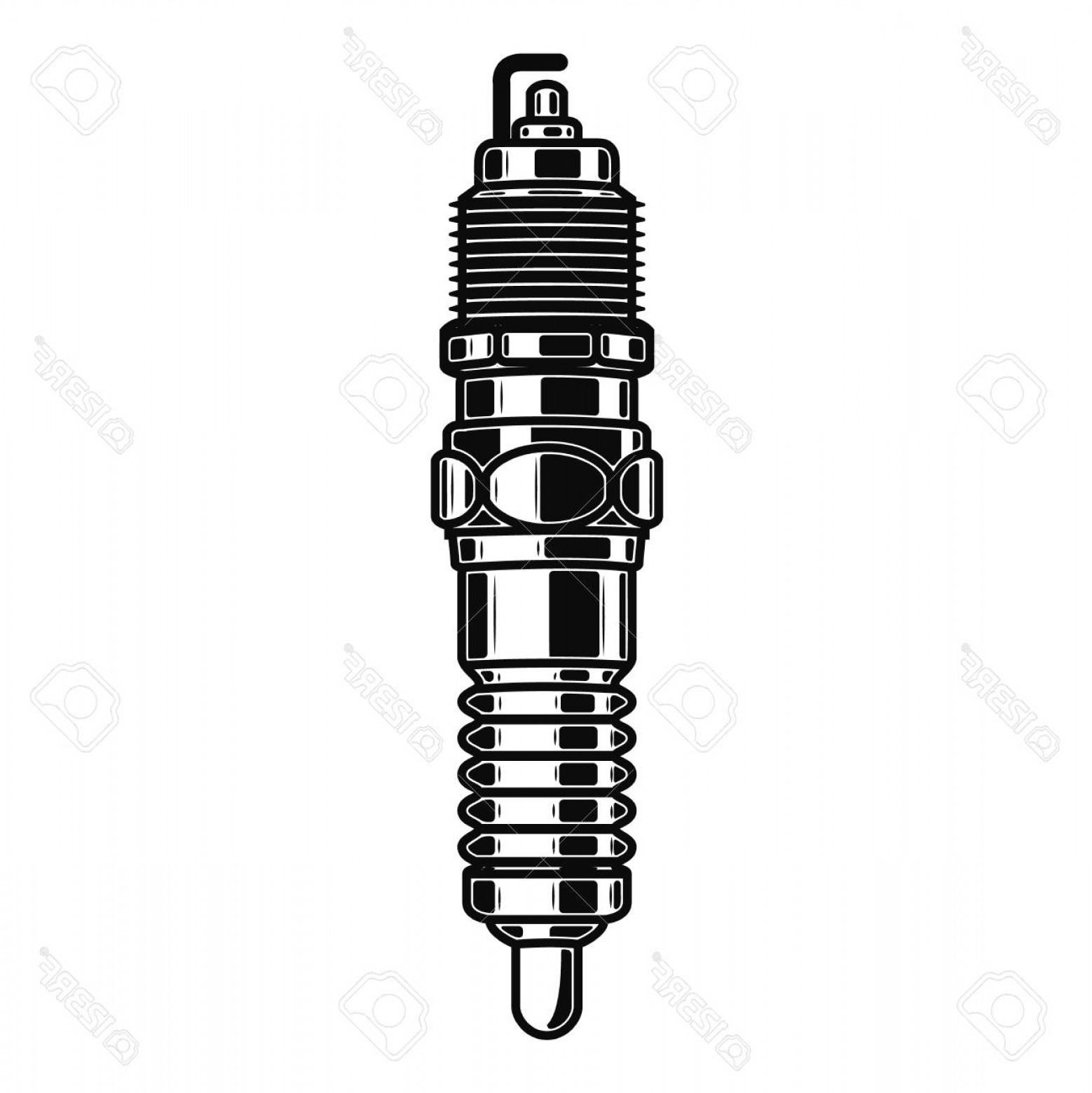 Spark Plug Vector: Photostock Vector Spark Plug Illustration Isolated On White Background Design Element For Emblem Sign Poster Label Vec