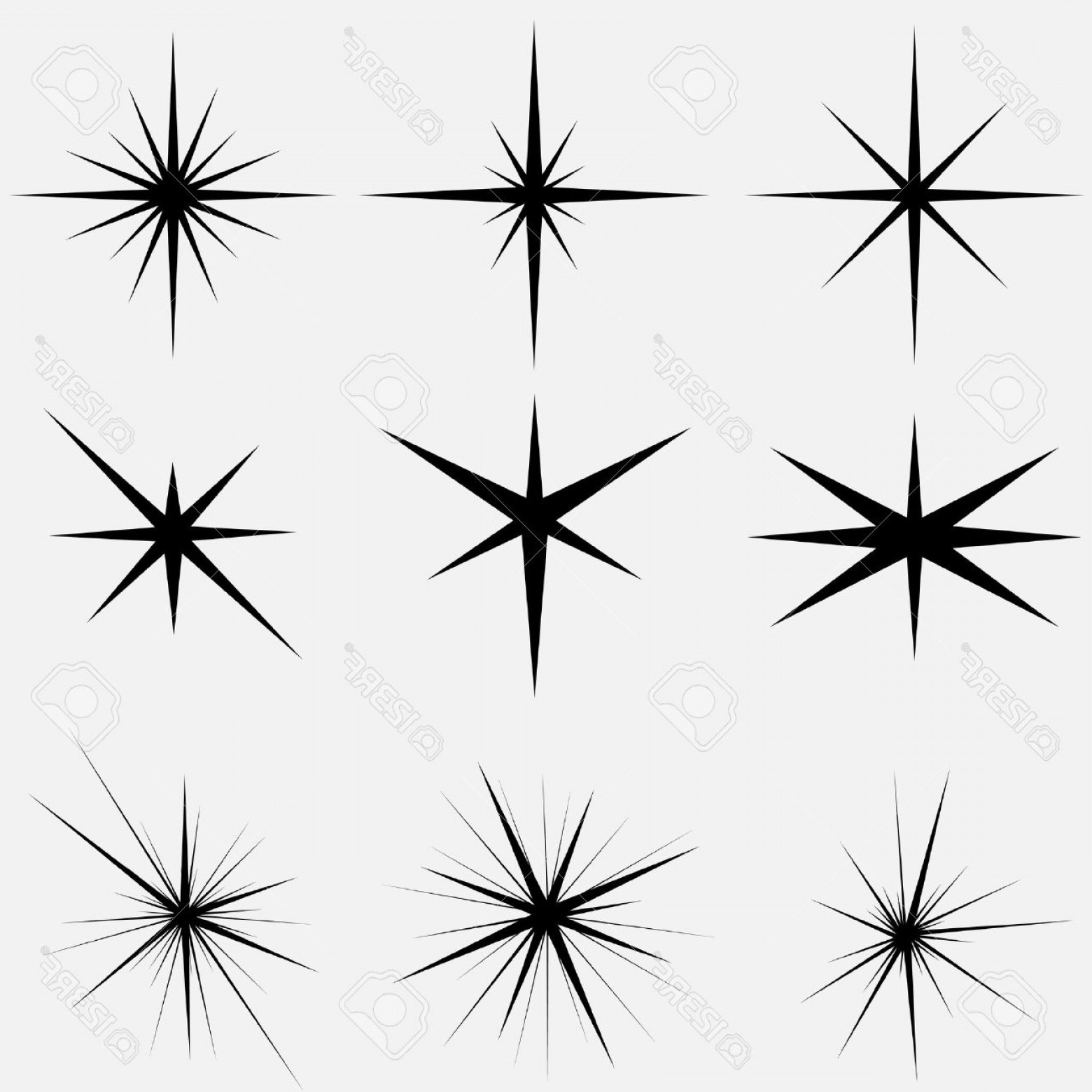Sparkle Burst Vector: Photostock Vector Sparkle Lights Stars Set Glowing Light Effect Star Bursts Collection Vector