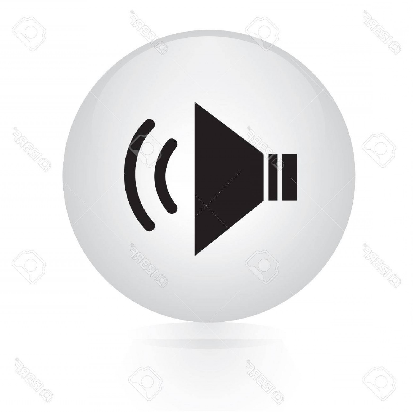 Volume Button Vector: Photostock Vector Speaker Volume Button Web Icon