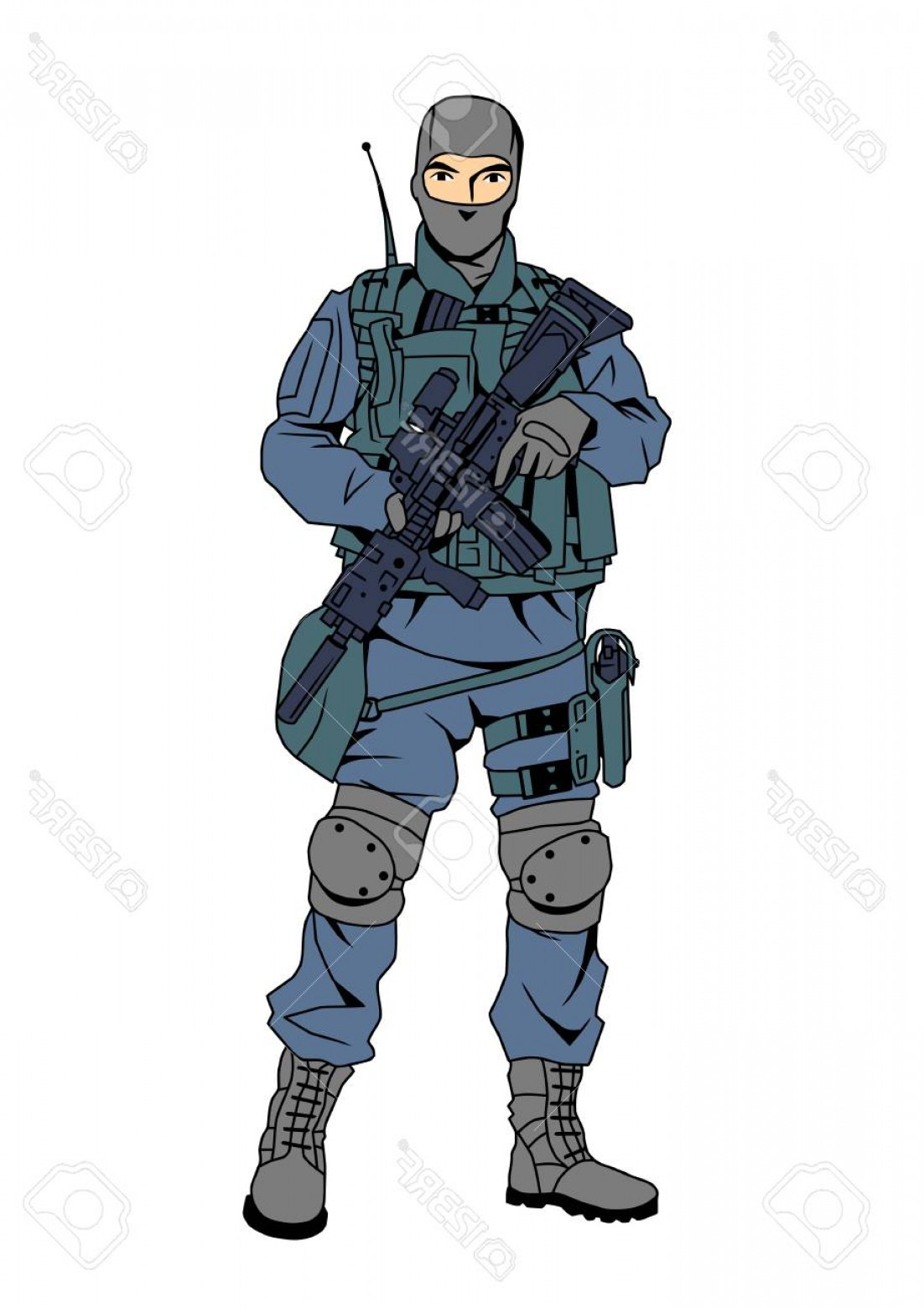 Us Special Forces Vector Files: Photostock Vector Special Forces Policeman In The Mask
