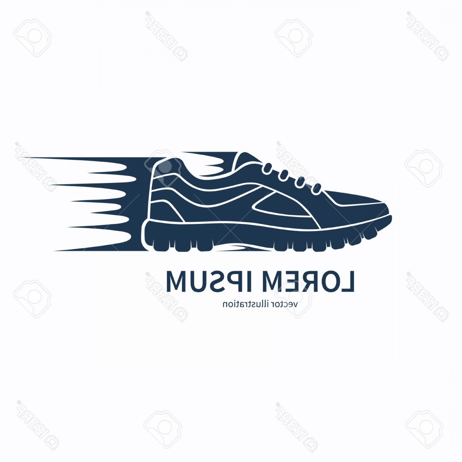 Sneaker Silhouette Vector: Photostock Vector Speeding Running Shoe Icon Symbol Or Logo Sneaker Or Sports Shoe Silhouette With Speed And Motion Tr