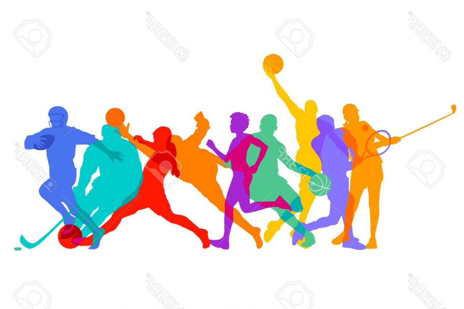 Vector Sports Crowd Cheering: Photostock Vector Sports Games And Athletes