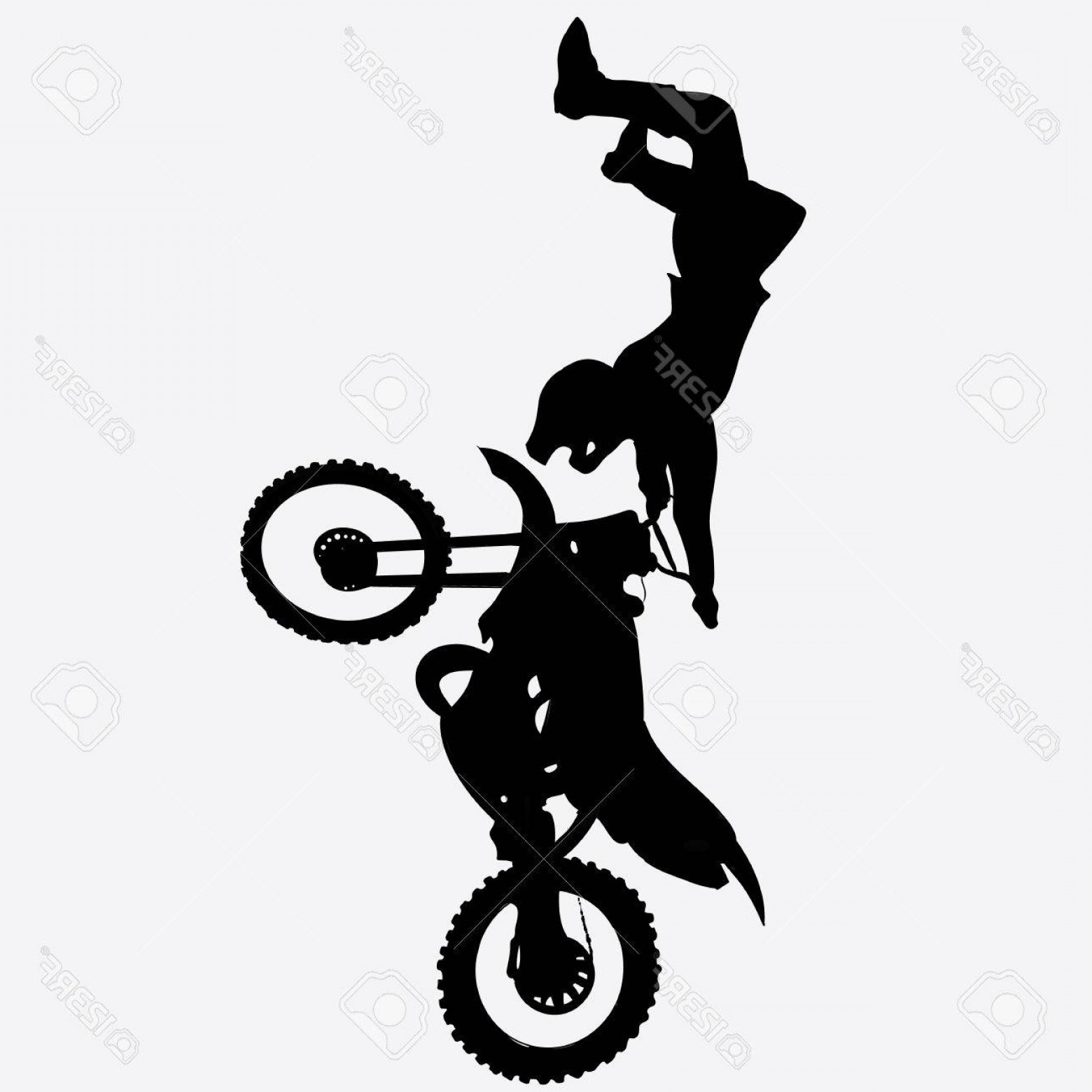 Dirt Bike Gas Can Vector: Photostock Vector Sports Motocross Fmh Shadow Motorcycle Silhouette Eps