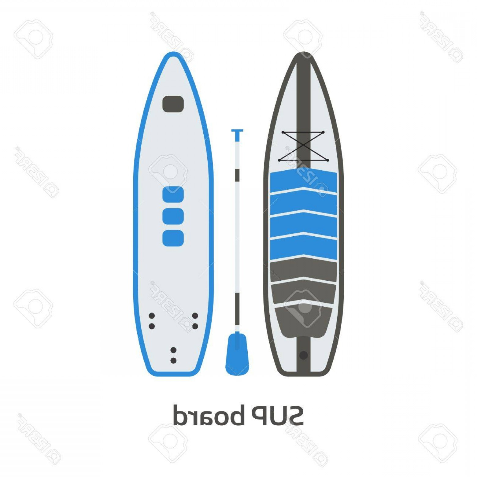 Paddleboard Vector Icons: Photostock Vector Stand Up Paddling Board Vector Icon Isolated On White Background Surfer Sup Board Illustration Paddl