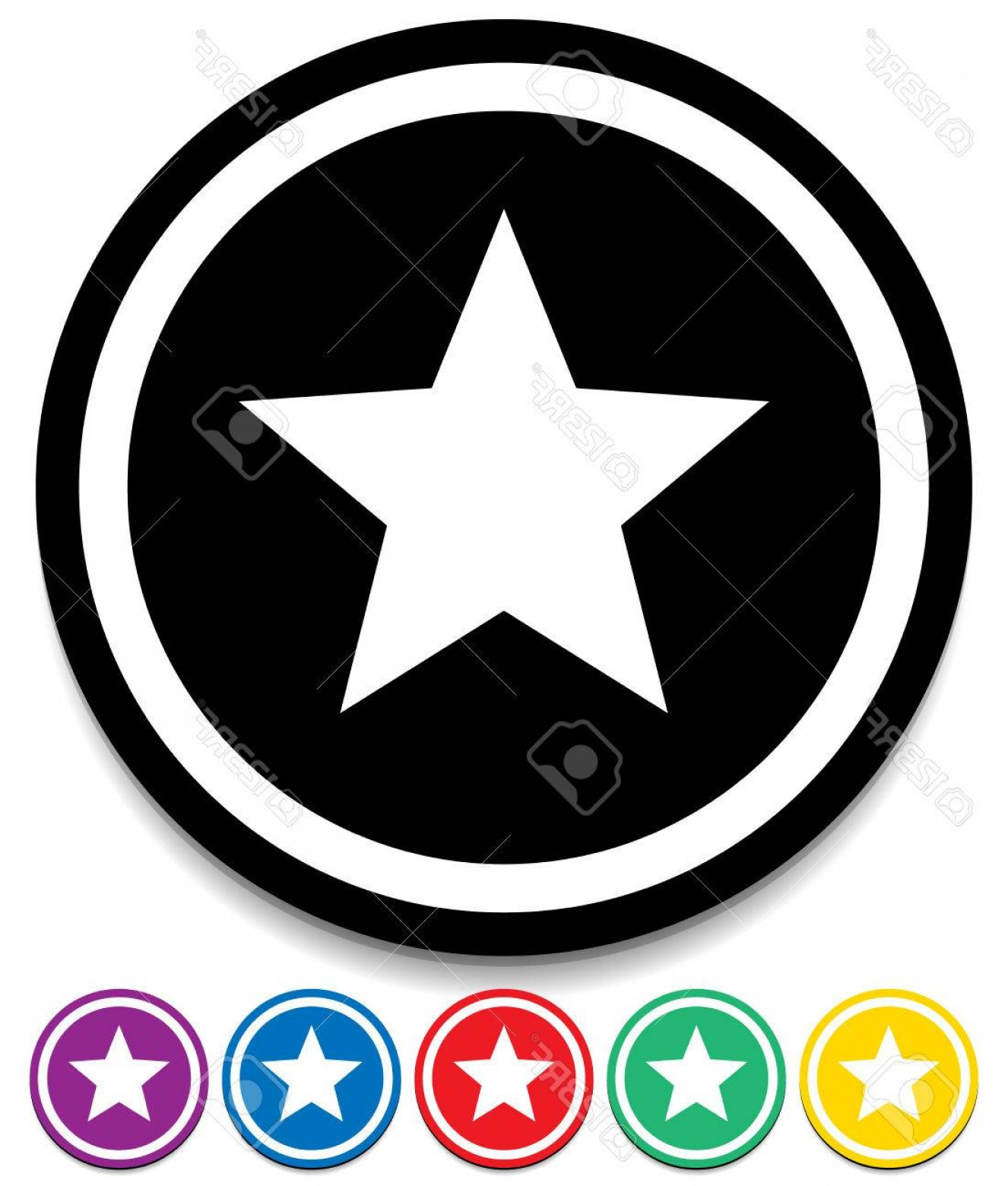 5 Point Star Vector Art: Photostock Vector Star Graphics Star Favorite Icon Pointed Star Vector