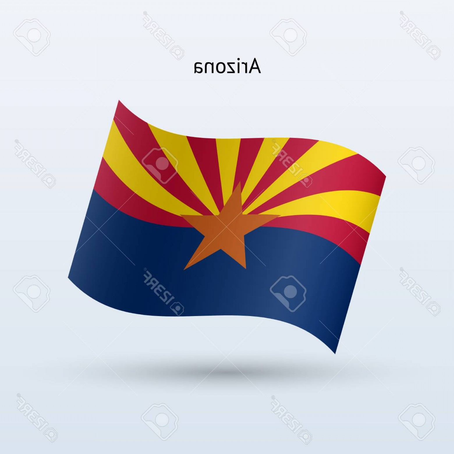 Arizona Flag Vector: Photostock Vector State Of Arizona Flag Waving Form Vector Illustration