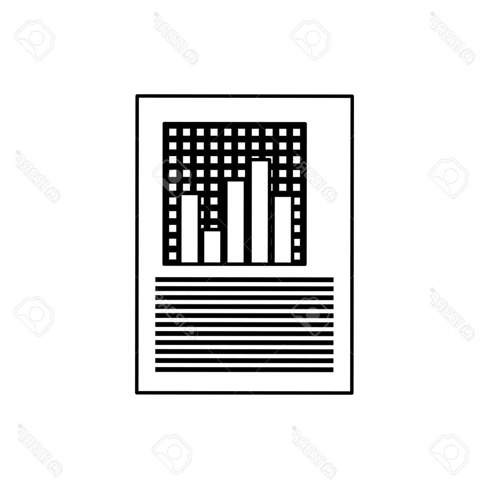 Report Icon Vector: Photostock Vector Statistics Chart Report Icon Vector Illustration Graphic Design