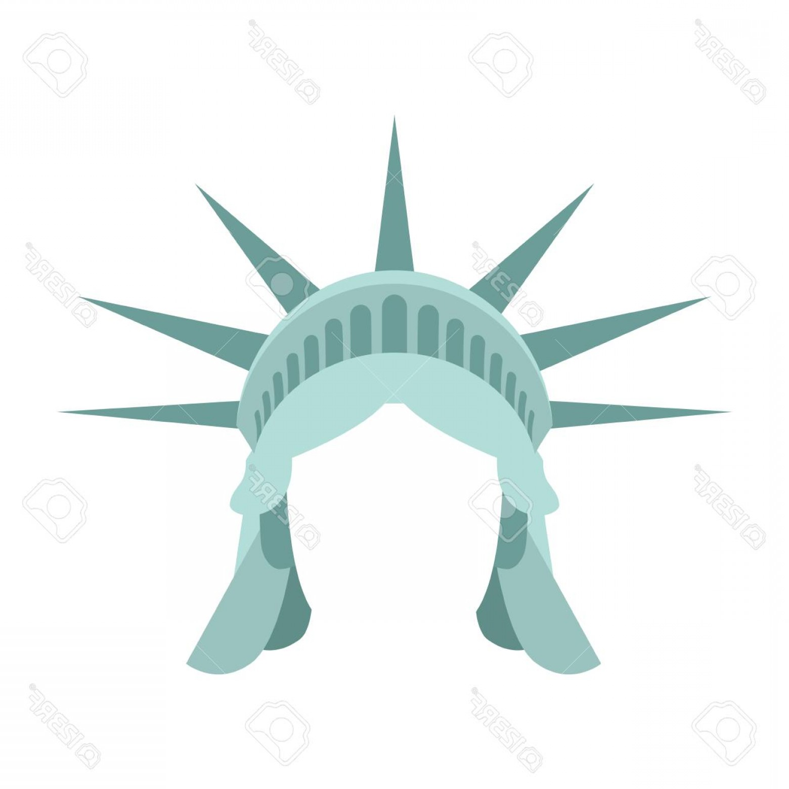 Statue Of Liberty Face Vector: Photostock Vector Statue Of Liberty Template Face Head Mock Up Hair And Crown