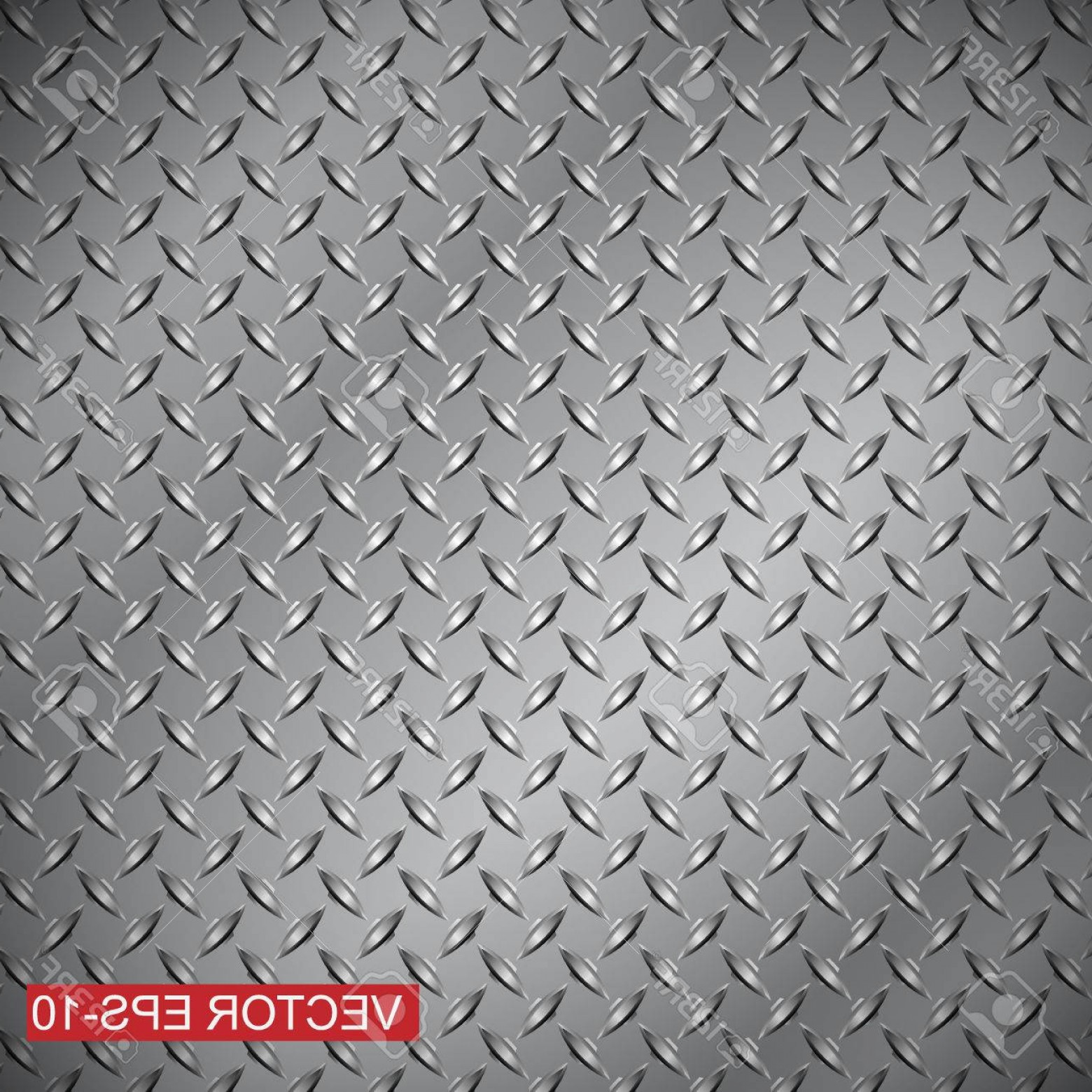 Diamond Plate Vector Pattern: Photostock Vector Steel Diamond Plate Texture Background