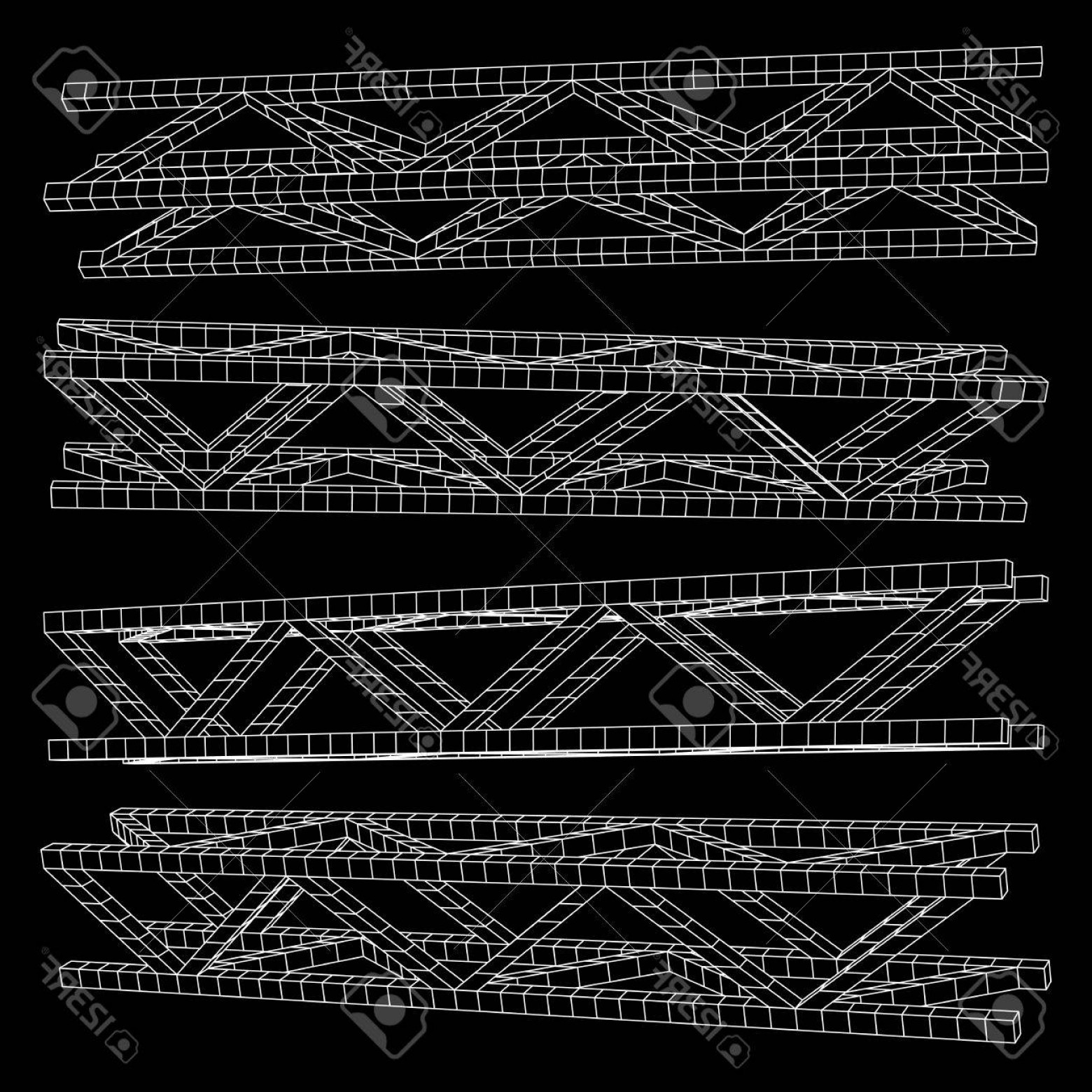 Aluminum Truss Design Vector: Photostock Vector Steel Truss Girder Element