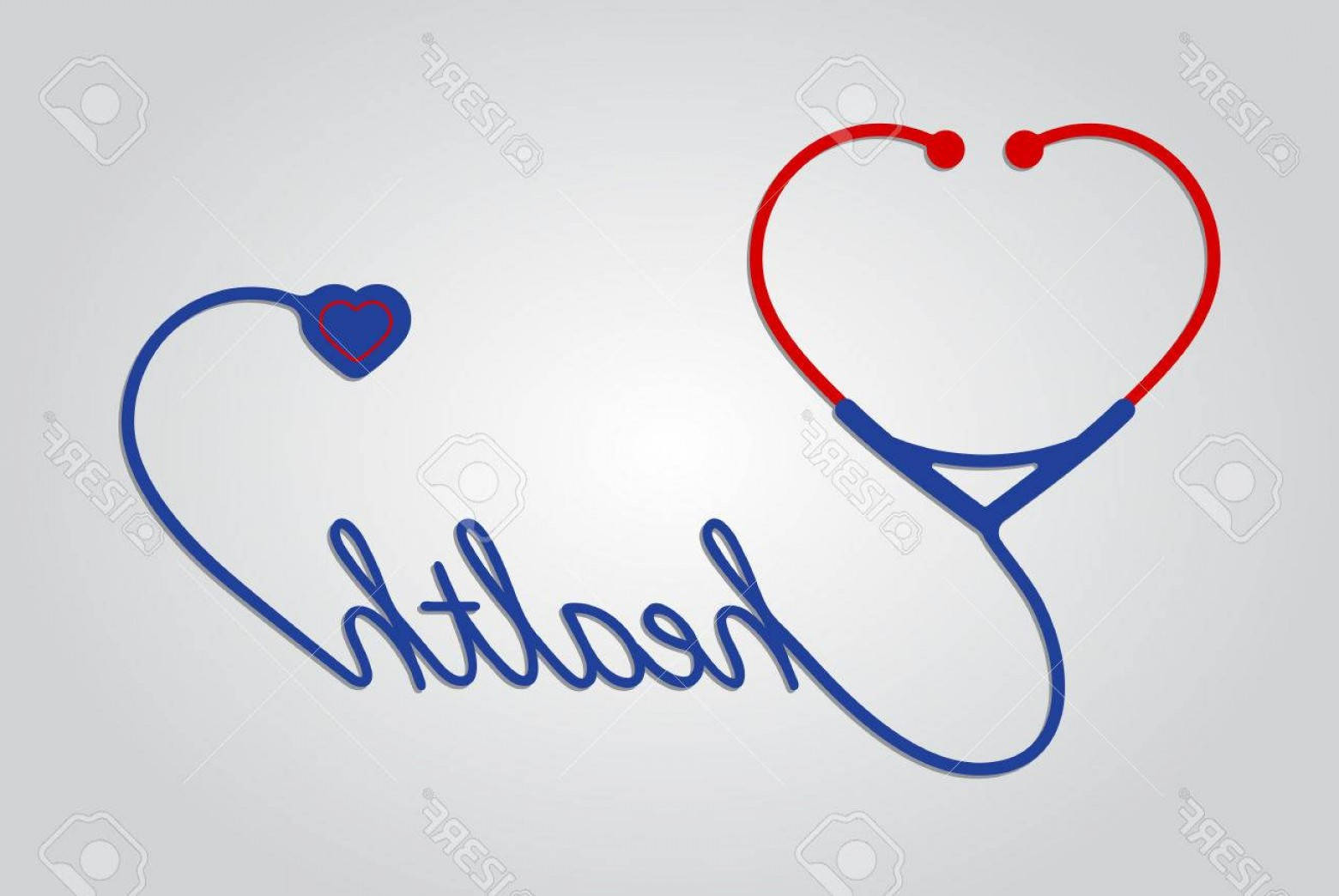 Stethoscope With Heart Vector Art: Photostock Vector Stethoscope With Heart Medical Symbol Vector