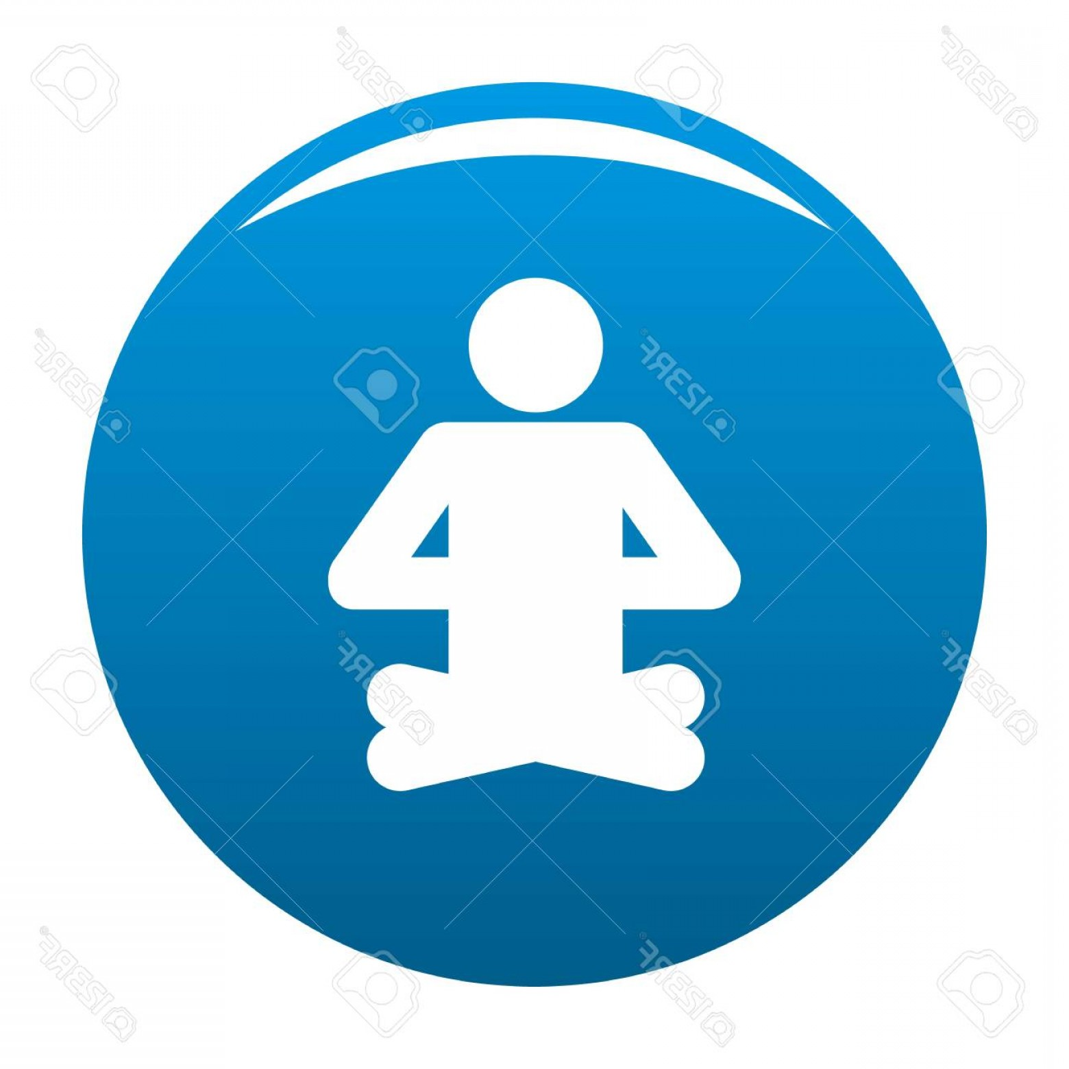Vector Stick Figure Yoga Positions: Photostock Vector Stick Figure In Yoga Position Icon
