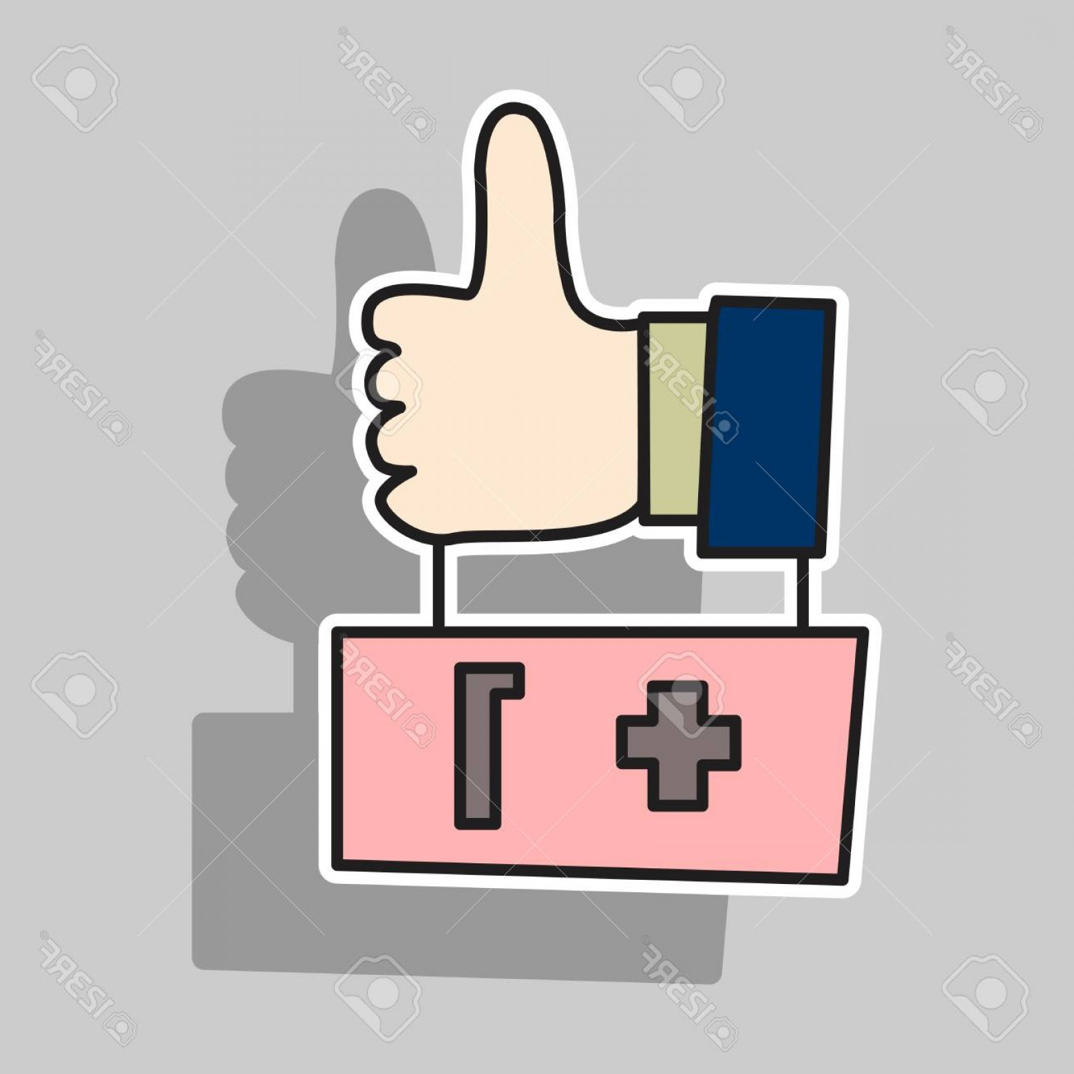 Finger Facebook Vector: Photostock Vector Sticker Thumbs Up Like Social Network Facebook Etc Icon New Appreciation Number Symbol Idea Blogging