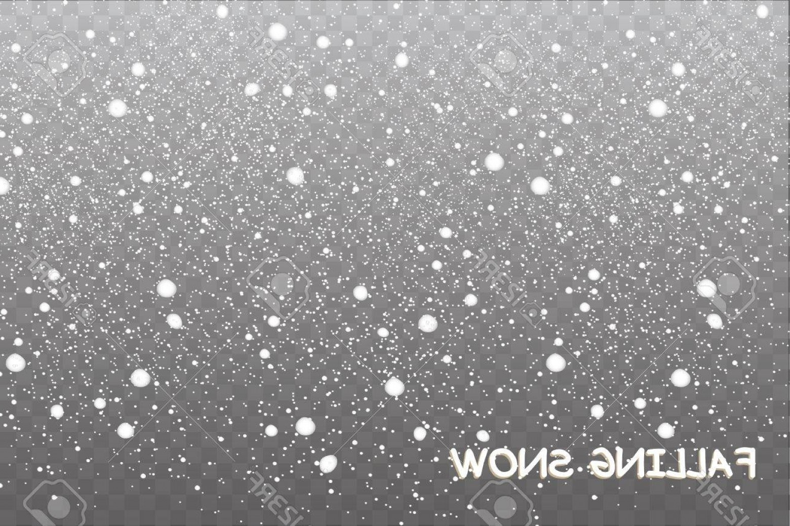 Snow Falling Vector Free: Photostock Vector Stock Vector Illustration Falling Snow Snowflakes Snowfall Transparent Background Fall Of Snow