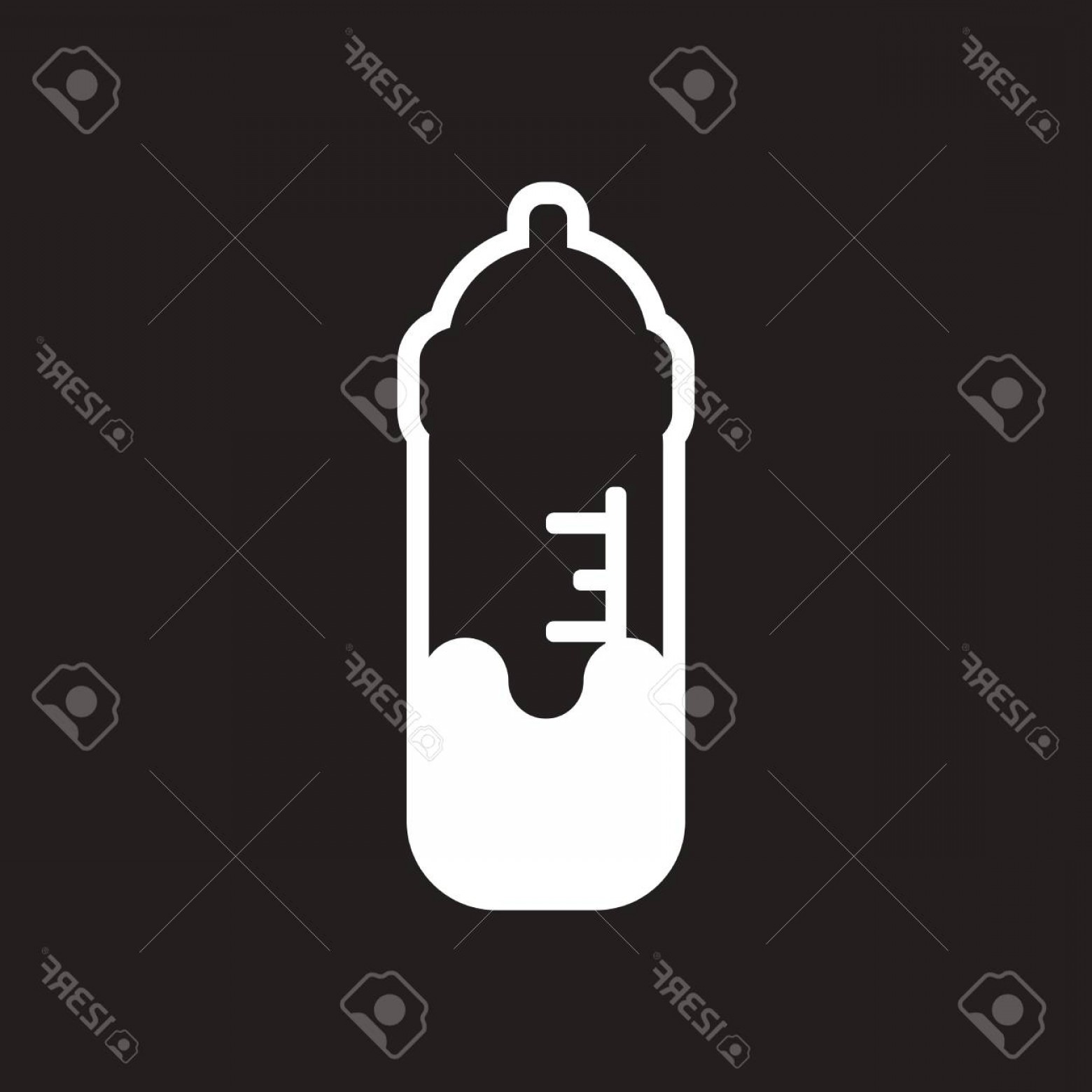 Chain And Lock Glove Vector: Photostock Vector Stylish Black And White Icon Baby Bottle