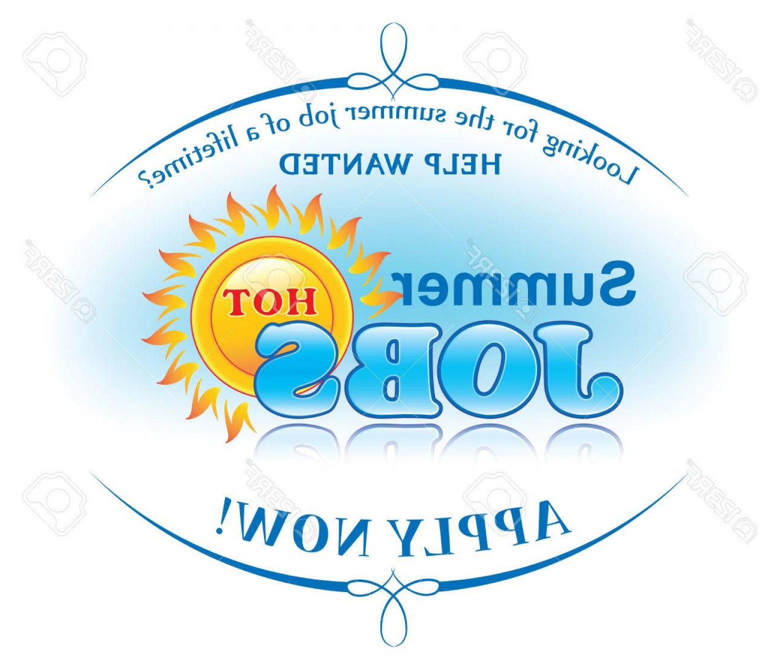 Vector Job Offer: Photostock Vector Summer Jobs Offer Sticker For Print Help Wanted Apply Now Label For Companies Employers That Are Loo