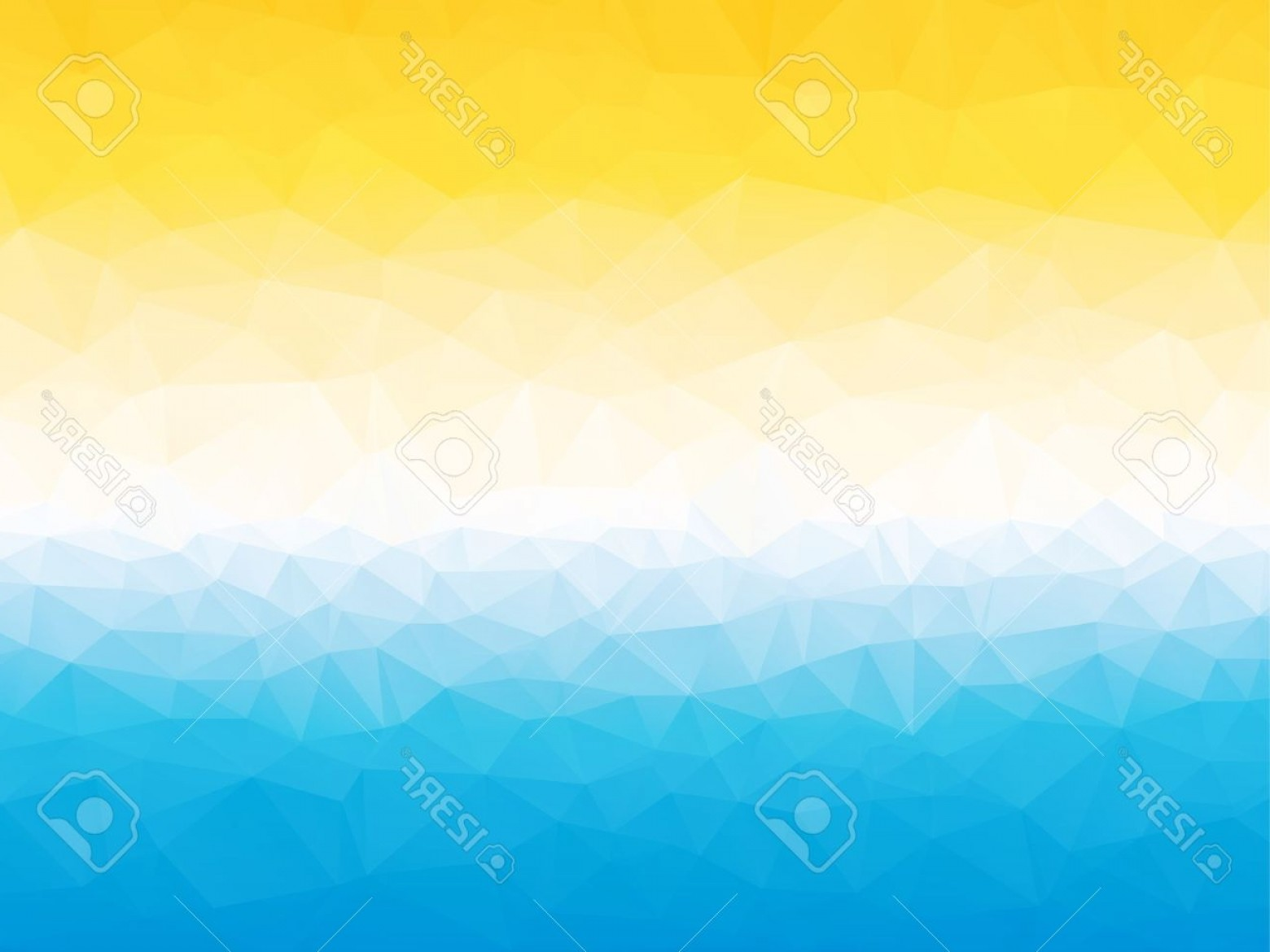 Blue White Background Vector: Photostock Vector Summer Yellow Blue White Triangular Background With Horizon