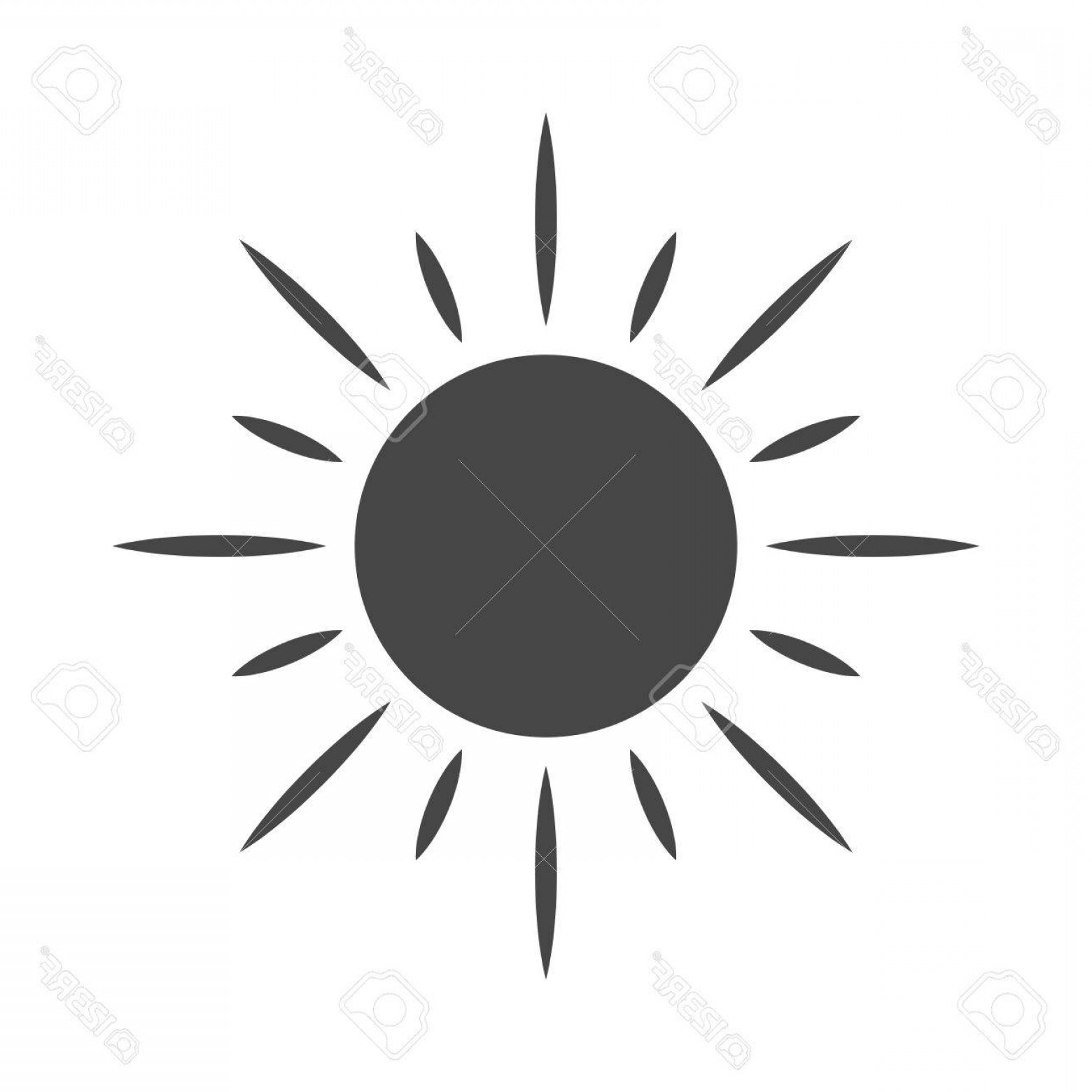 Sunset Black And White Backgrounds Vector: Photostock Vector Sun Icon Light Sign With Sunbeams Black Design Element Isolated On White Background Symbol Of Sunris
