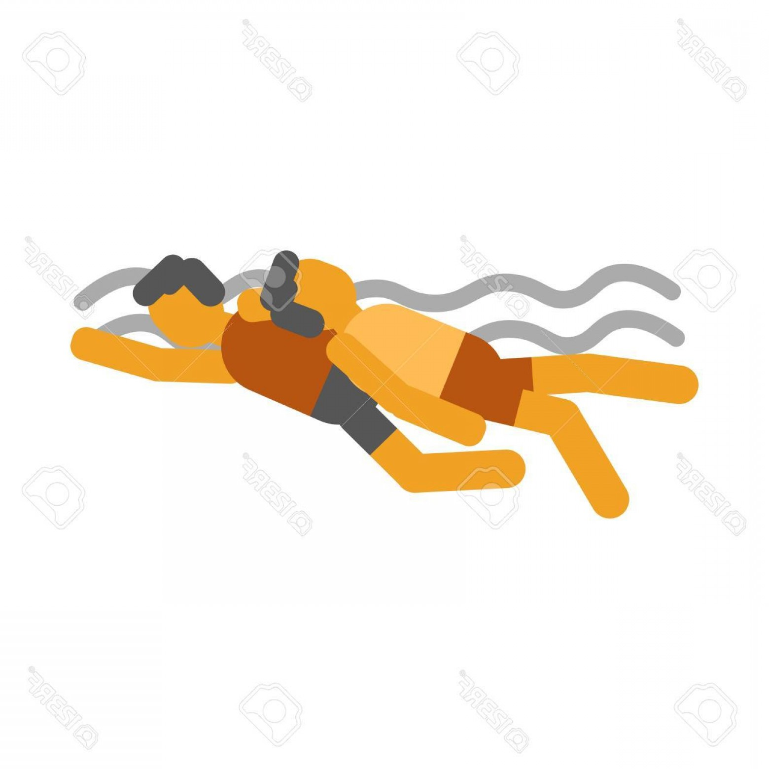 Man Drowning Vector: Photostock Vector Swimmer Saves Drowning Man Icon Symbols Vector Illustration