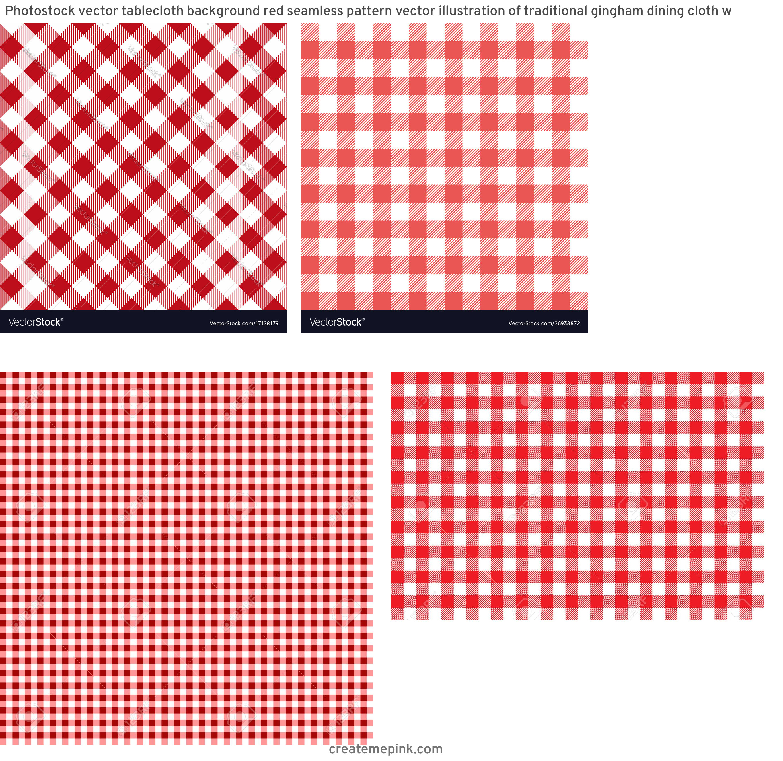Picnic Cloth Vector: Photostock Vector Tablecloth Background Red Seamless Pattern Vector Illustration Of Traditional Gingham Dining Cloth W