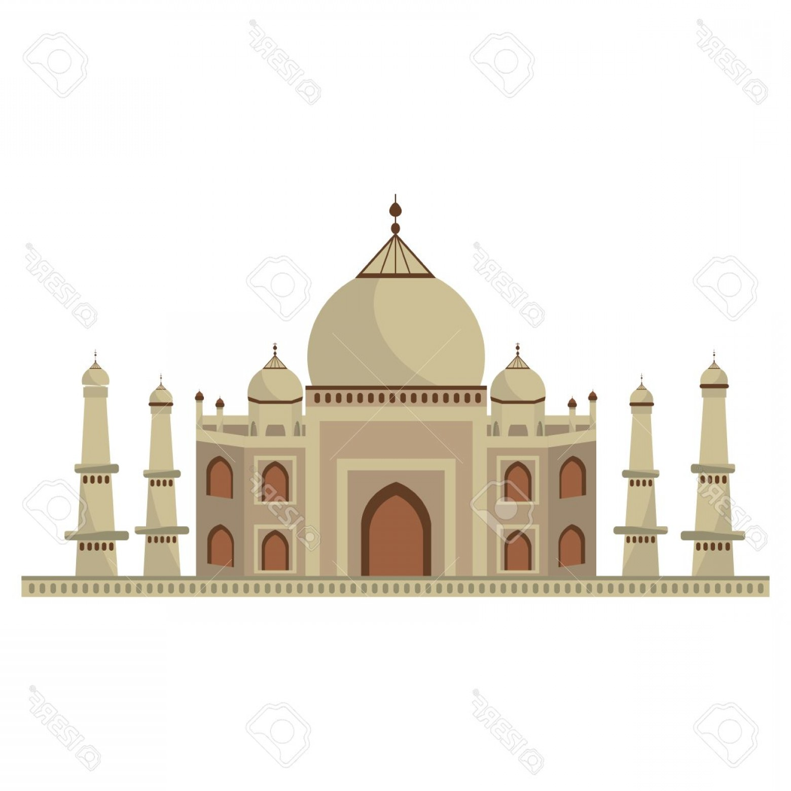 Taj Mahal Vector: Photostock Vector Taj Mahal Architecture Icon Vector Illustration Graphic Design