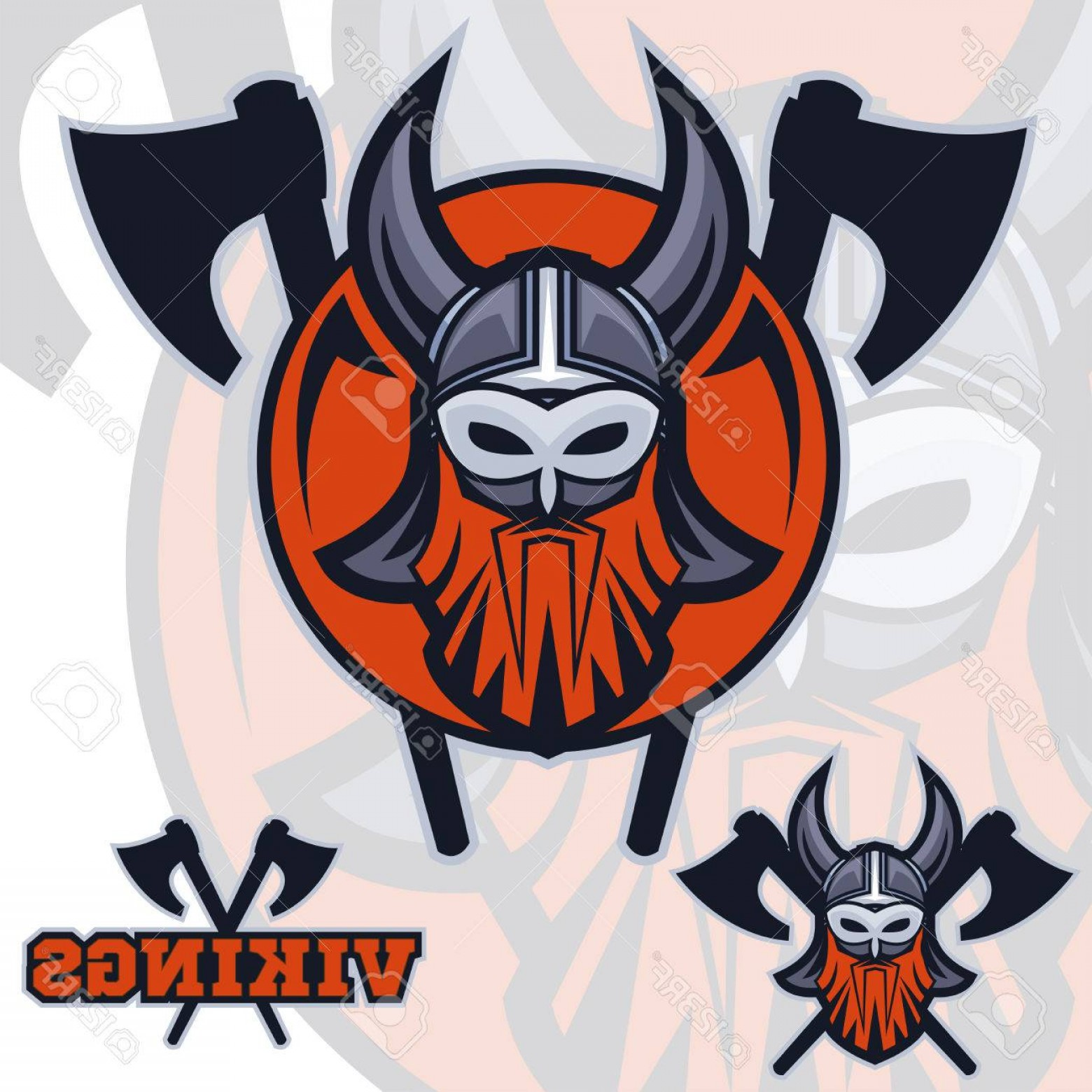 Vector Shining Armor Angry: Photostock Vector Team Vikings Mascot Logo Sport Logotype