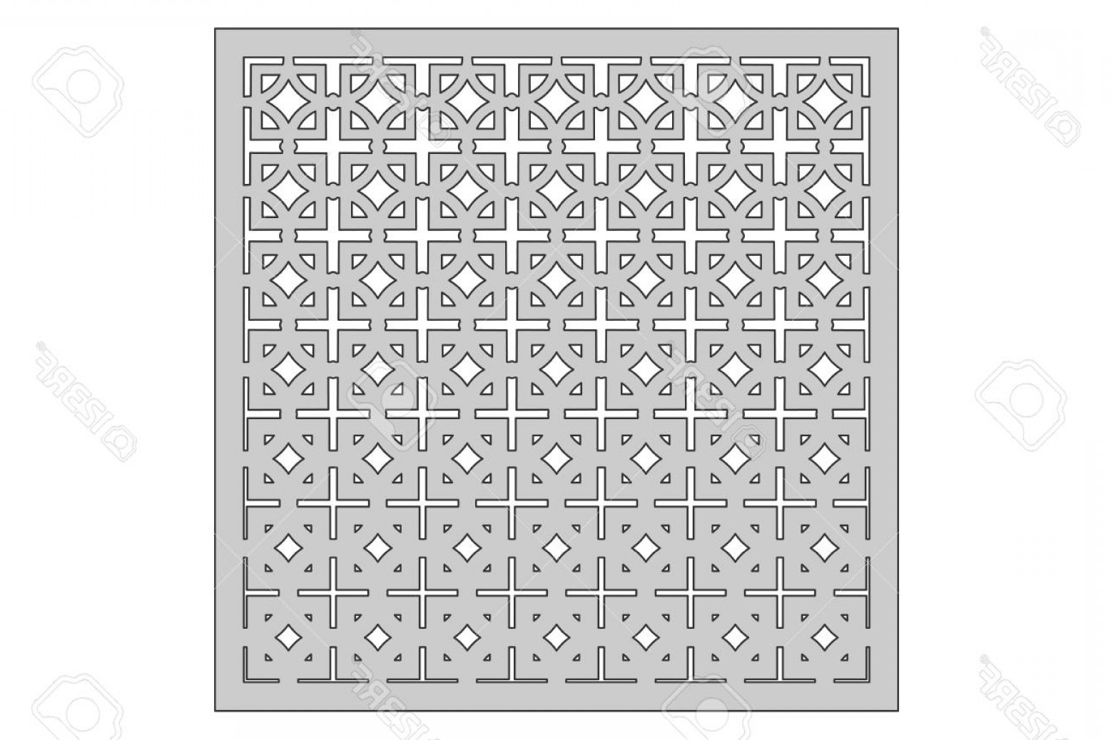 1-1 Vector: Photostock Vector Template For Cutting Square Repeat Pattern Laser Cut Ratio Vector Illustration