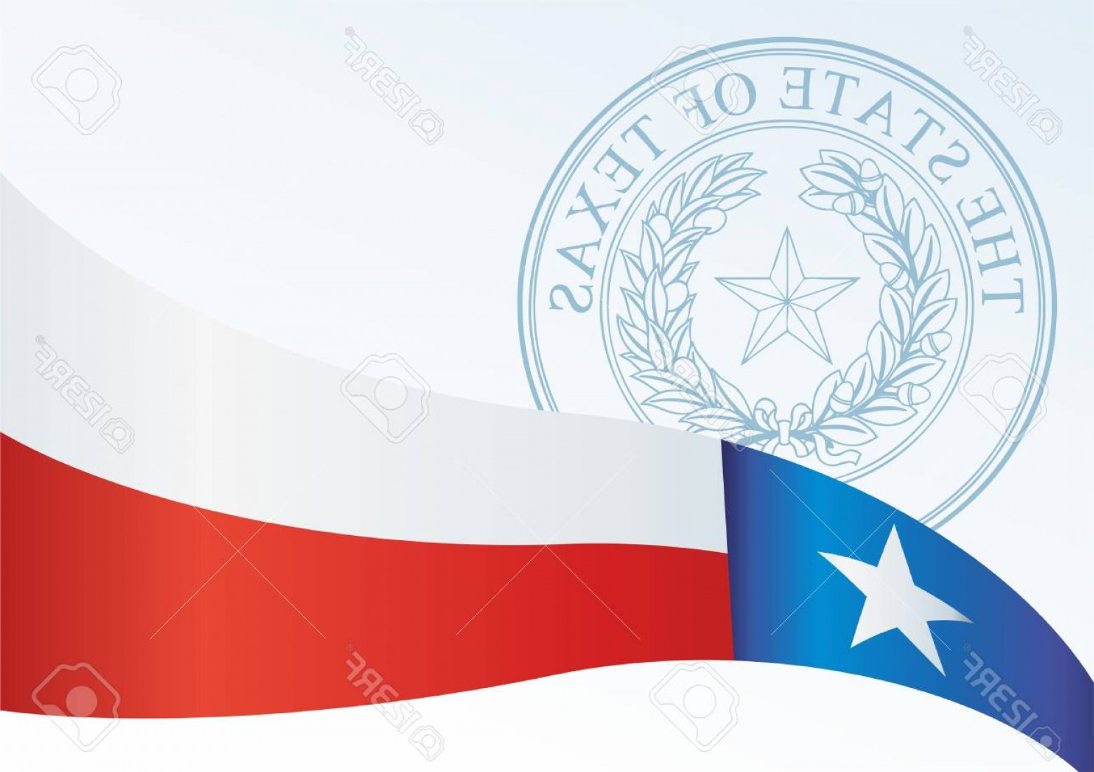 Texas Flag Vector Art: Photostock Vector Texas Flag Template For The Award An Official Document With The Flag Of The State Of Texas