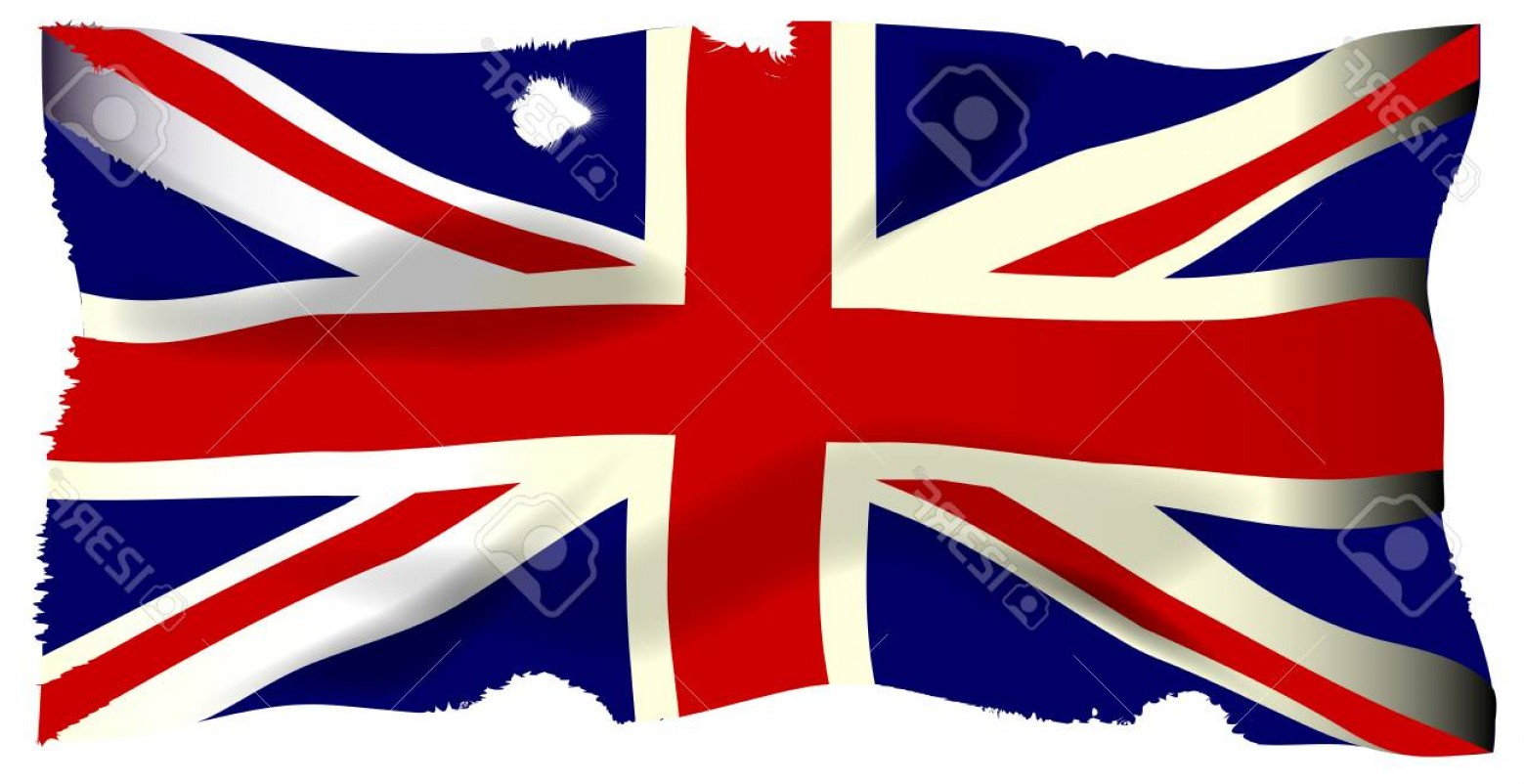 Union Jack Flag Tattered Vector: Photostock Vector The British Union Flag Or Union Jackthat Is Damaged By Cannon And Musket Ball Fire