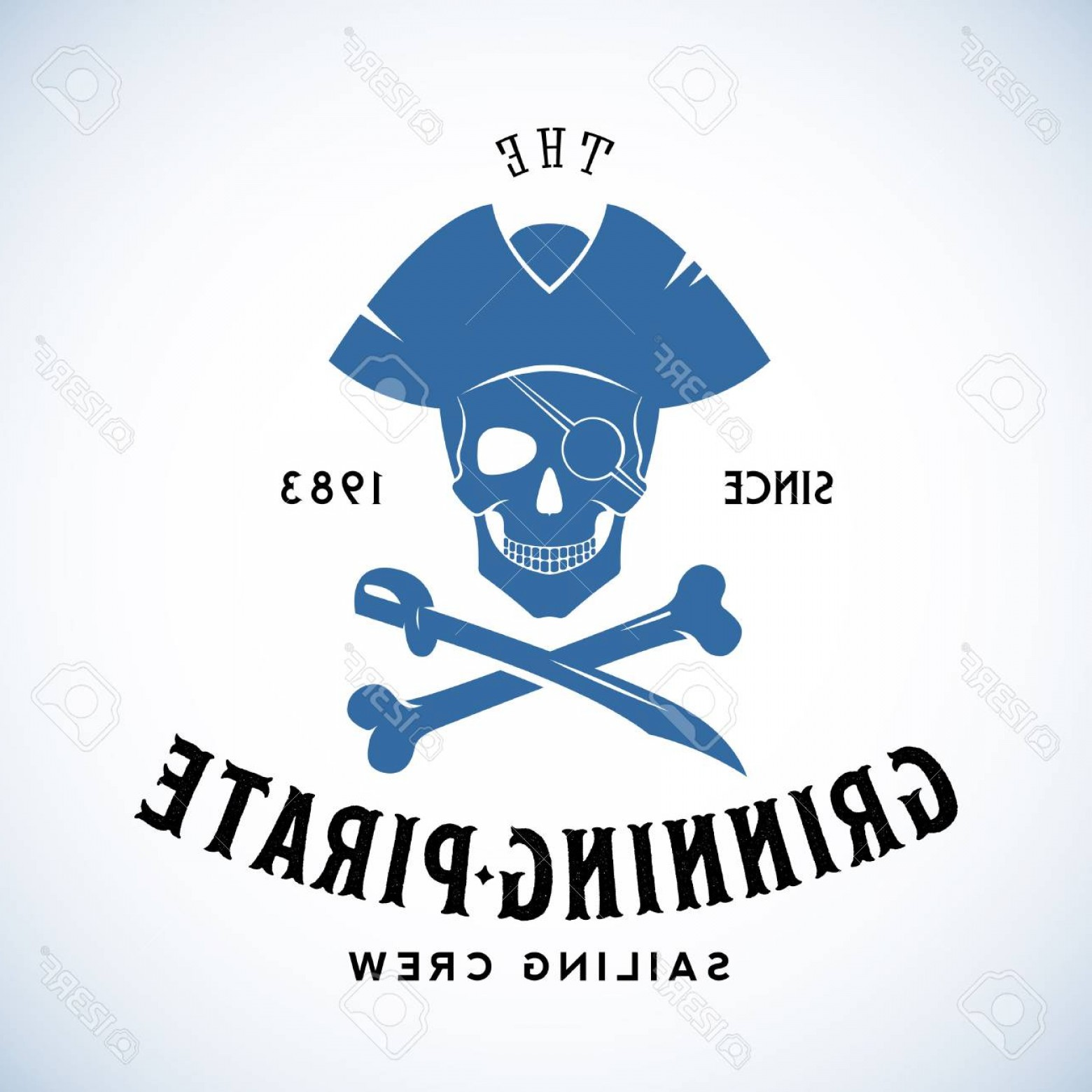 U S. Navy Shellback Logos Vector: Photostock Vector The Grinning Pirate Sailing Crew Abstract Vector Retro Logo Template Or Vintage Label With Typograph