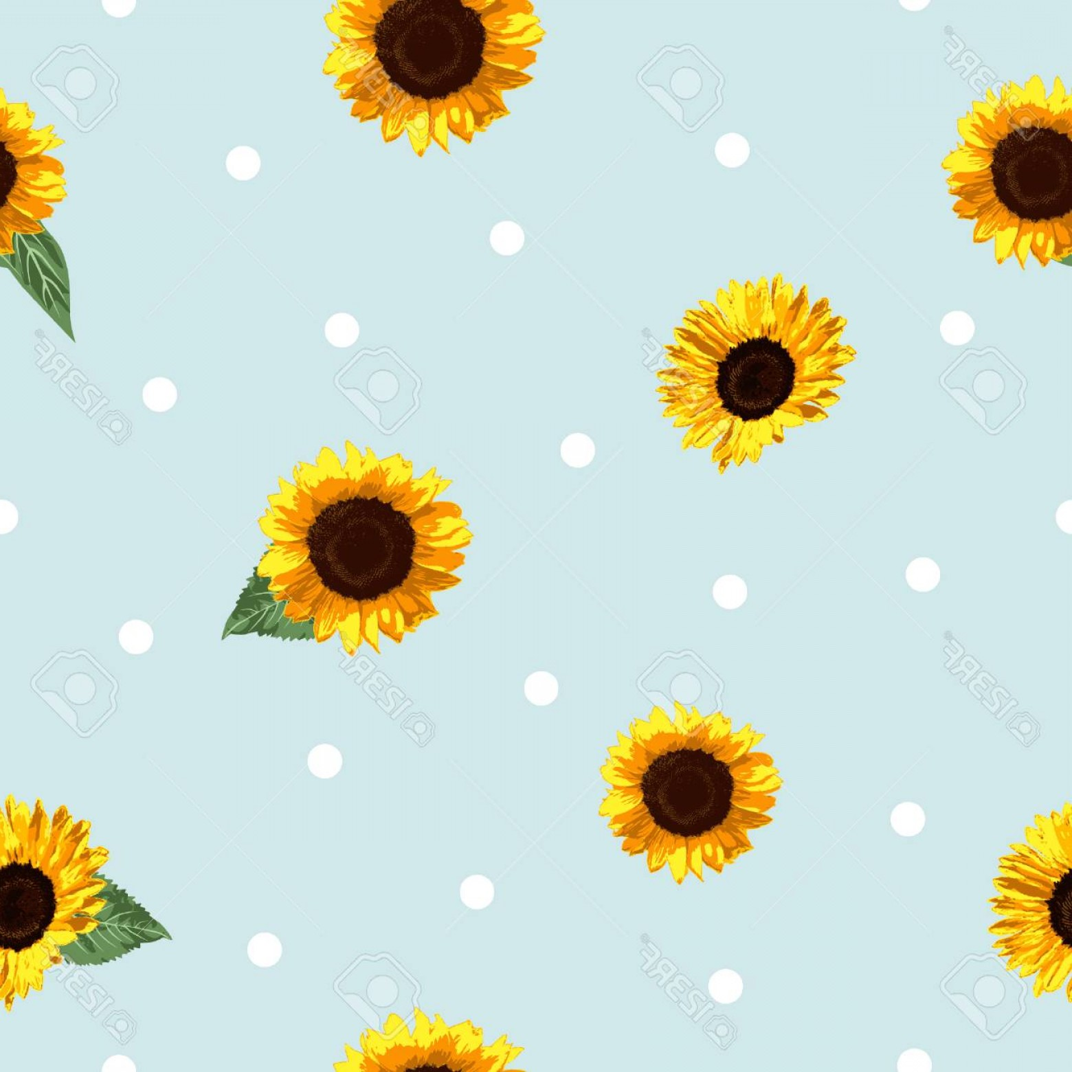 Sunflower Vector Pattern: Photostock Vector The Modern Sunflower Vector Pattern Is Using Minimalist Design Style It Represent Cute Modern Clean