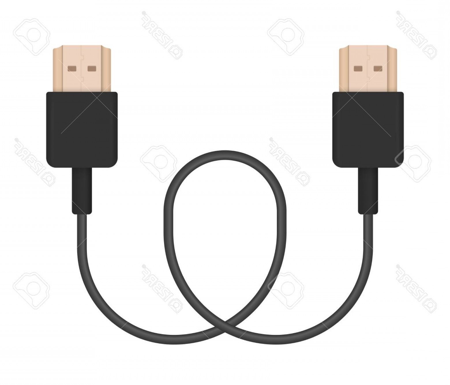 Vector Connector: Photostock Vector The Realistic Vector Illustration Of Hdmi Cable Connector Or Plug For Connecting And Charging Phones