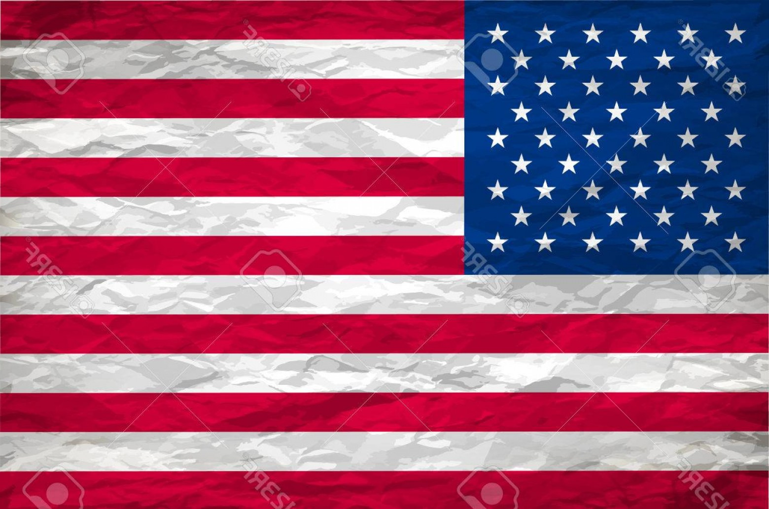 Rustic American Flag Vector: Photostock Vector The Usa Flag Painted On White Paper With Backgrond Vector Art