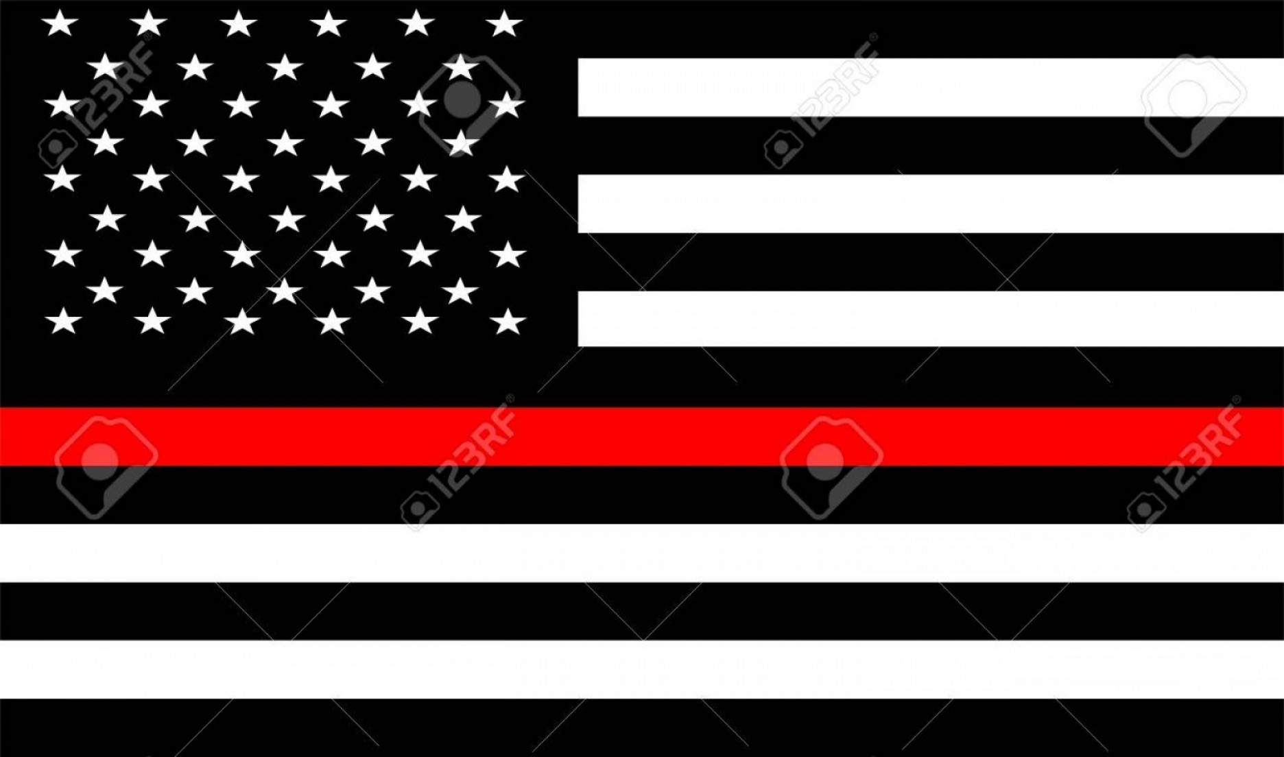 Thin Red Line Distressed Flag Vector: Photostock Vector Thin Red Line Firefighter Flag Vector Usa Flag