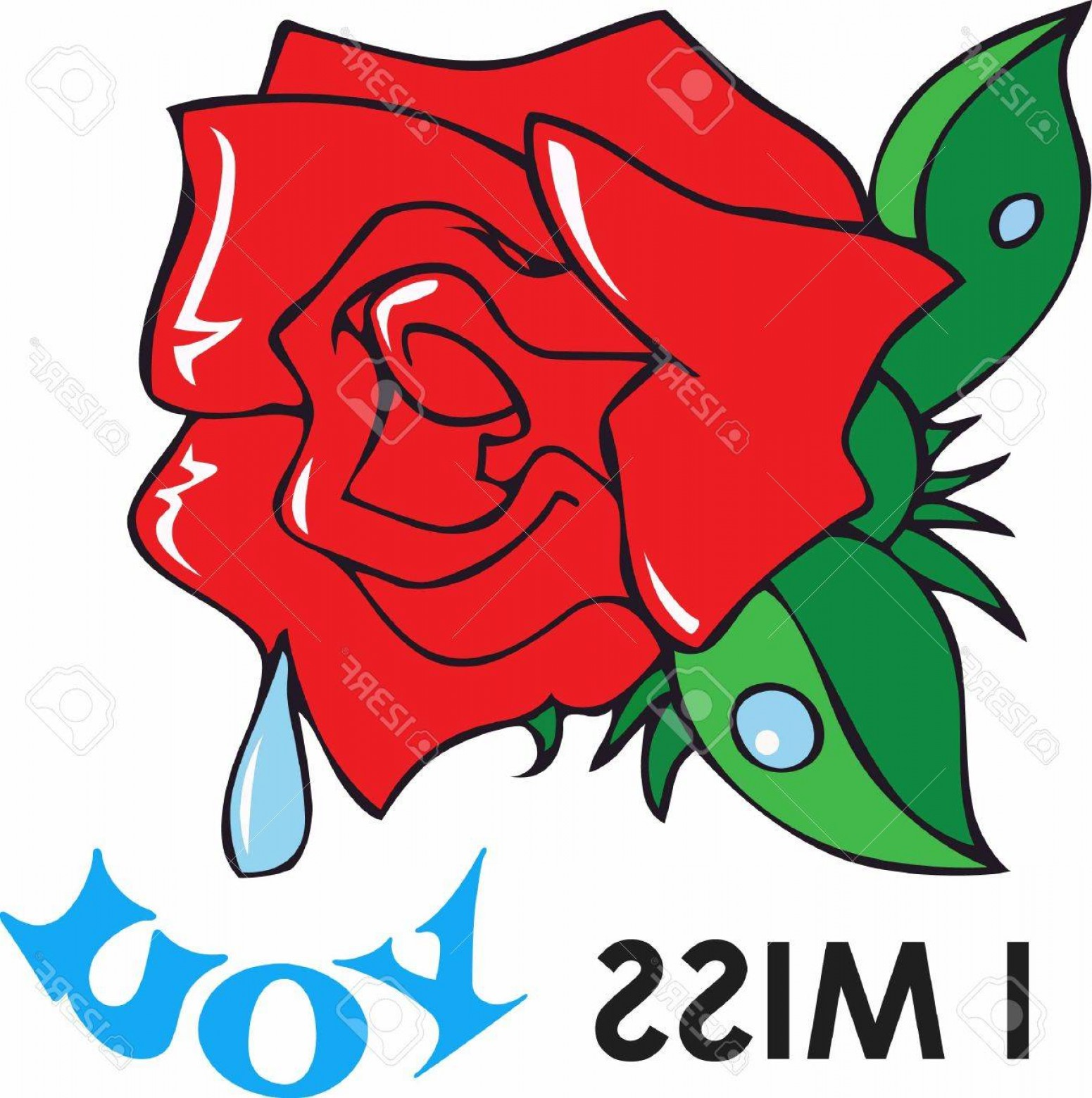 Vector Tear Away: Photostock Vector This Beautiful Image Of A Red Rose For Love And A Tear Is A Perfect Image To Send To A Loved One Tha