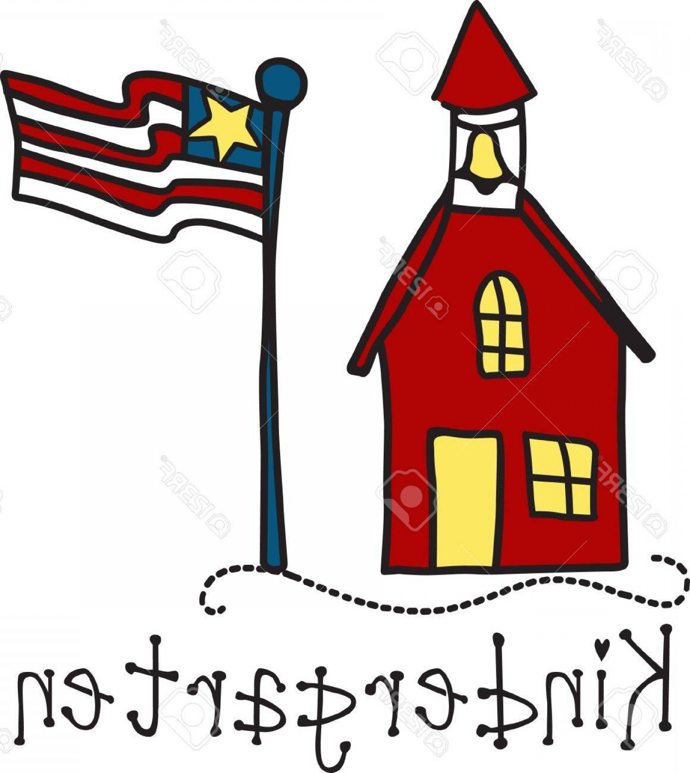 Vector Clip Art Red Schoolhouse: Photostock Vector This Traditional Red School House Of Days Gone By Stands As A Tribute To Education And Educators Use