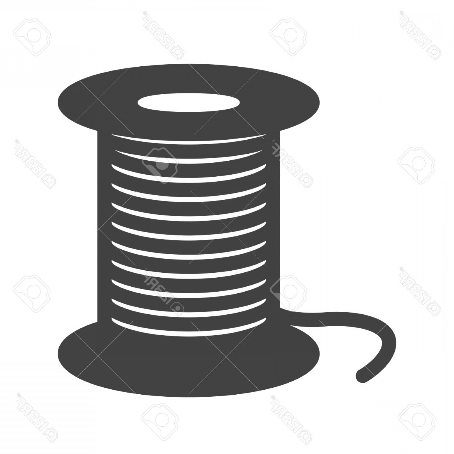 Sewing Spool Vector: Photostock Vector Threads Sewing Needle Icon Image