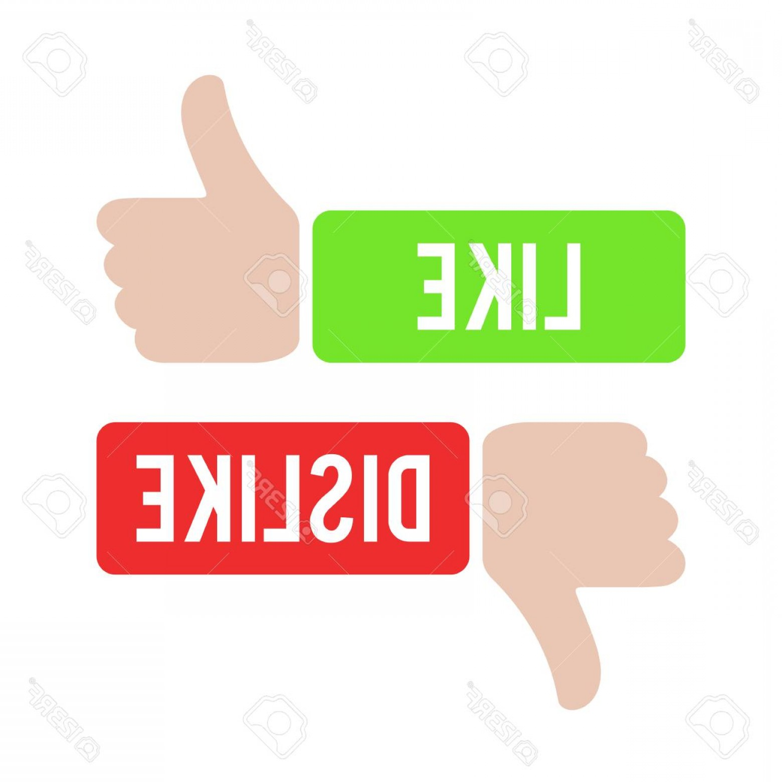 Vector Thumbs Up Down: Photostock Vector Thumbs Up And Thumbs Down Icon