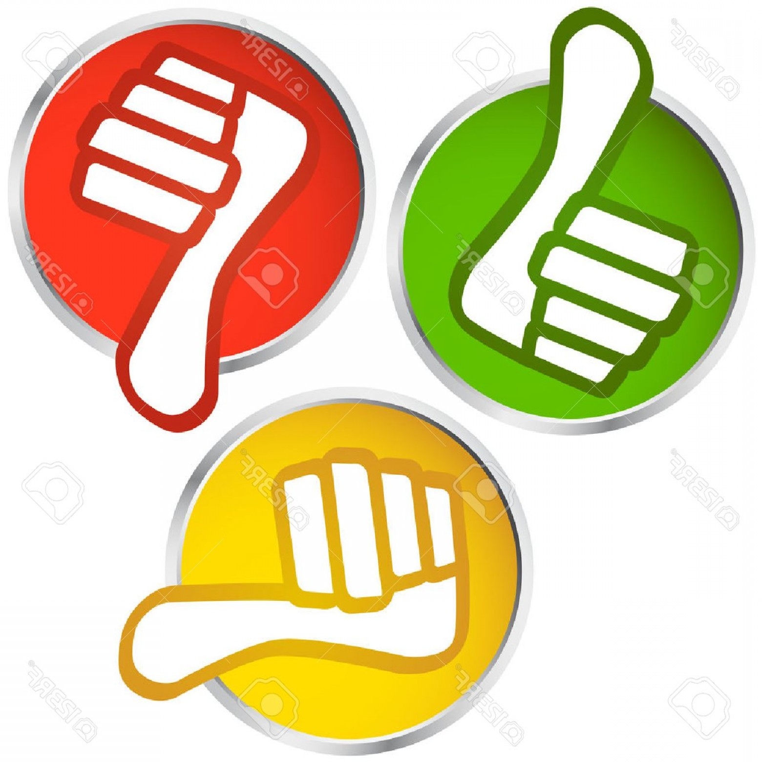Vector Thumbs Up Down: Photostock Vector Thumbs Up Thumbs Down Buttons