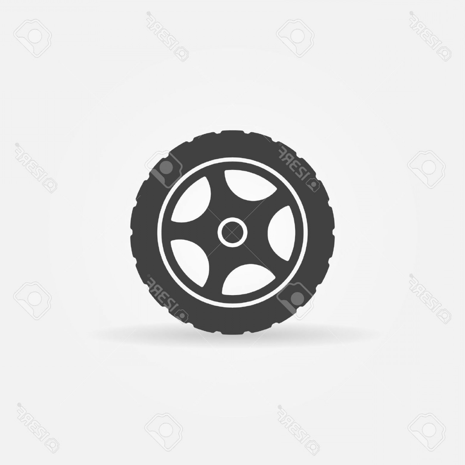 Tire Icon Vector: Photostock Vector Tire Icon Or Logo Vector Black Transportation Symbol