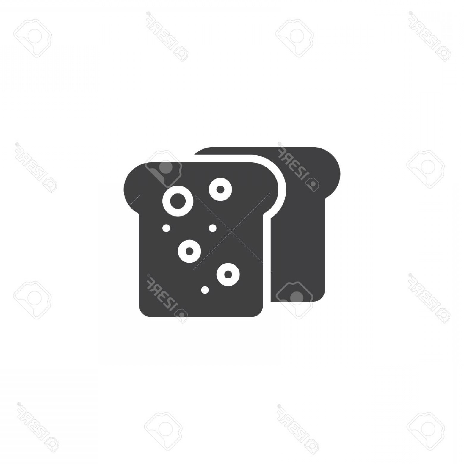 Xbox 360 Vector: Photostock Vector Toast Bread Vector Icon Filled Flat Sign For Mobile Concept And Web Design Two Pieces Of Bread Glyph